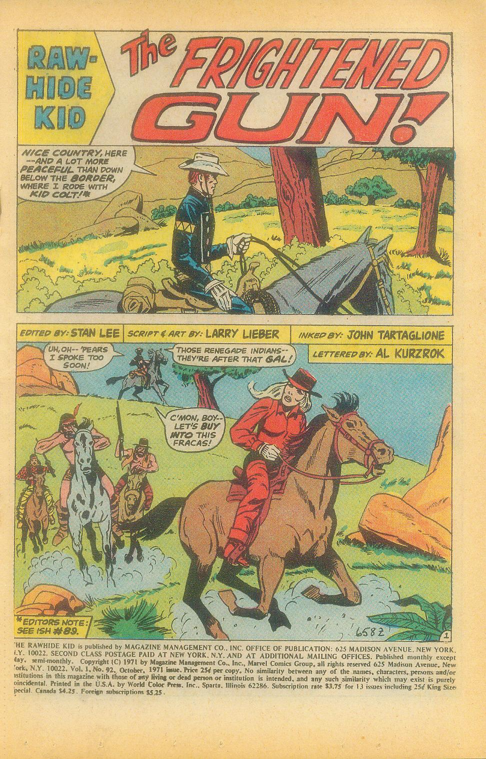 The Rawhide Kid (1955) issue 92 - Page 3