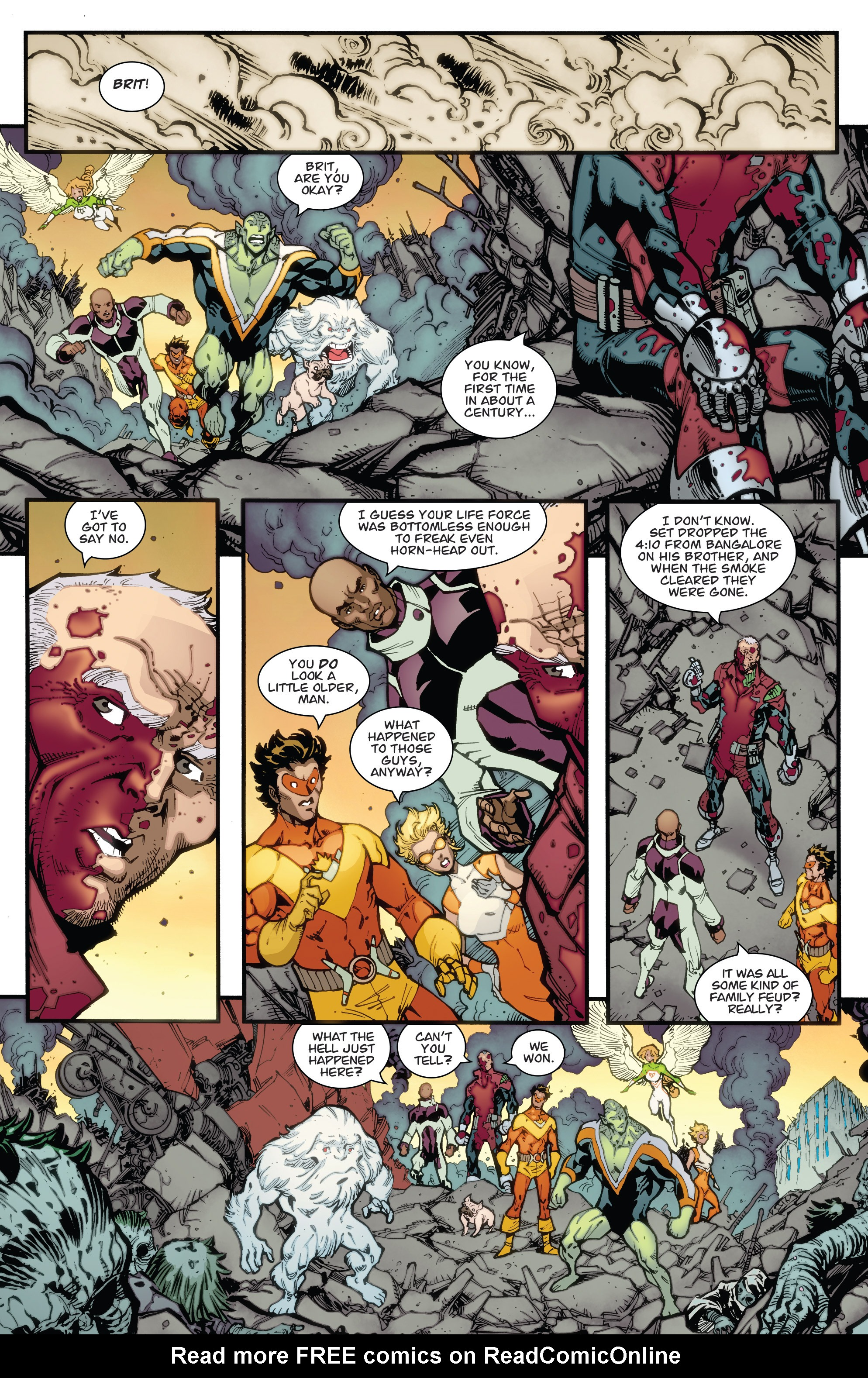 Read online Guarding the Globe (2012) comic -  Issue #6 - 21