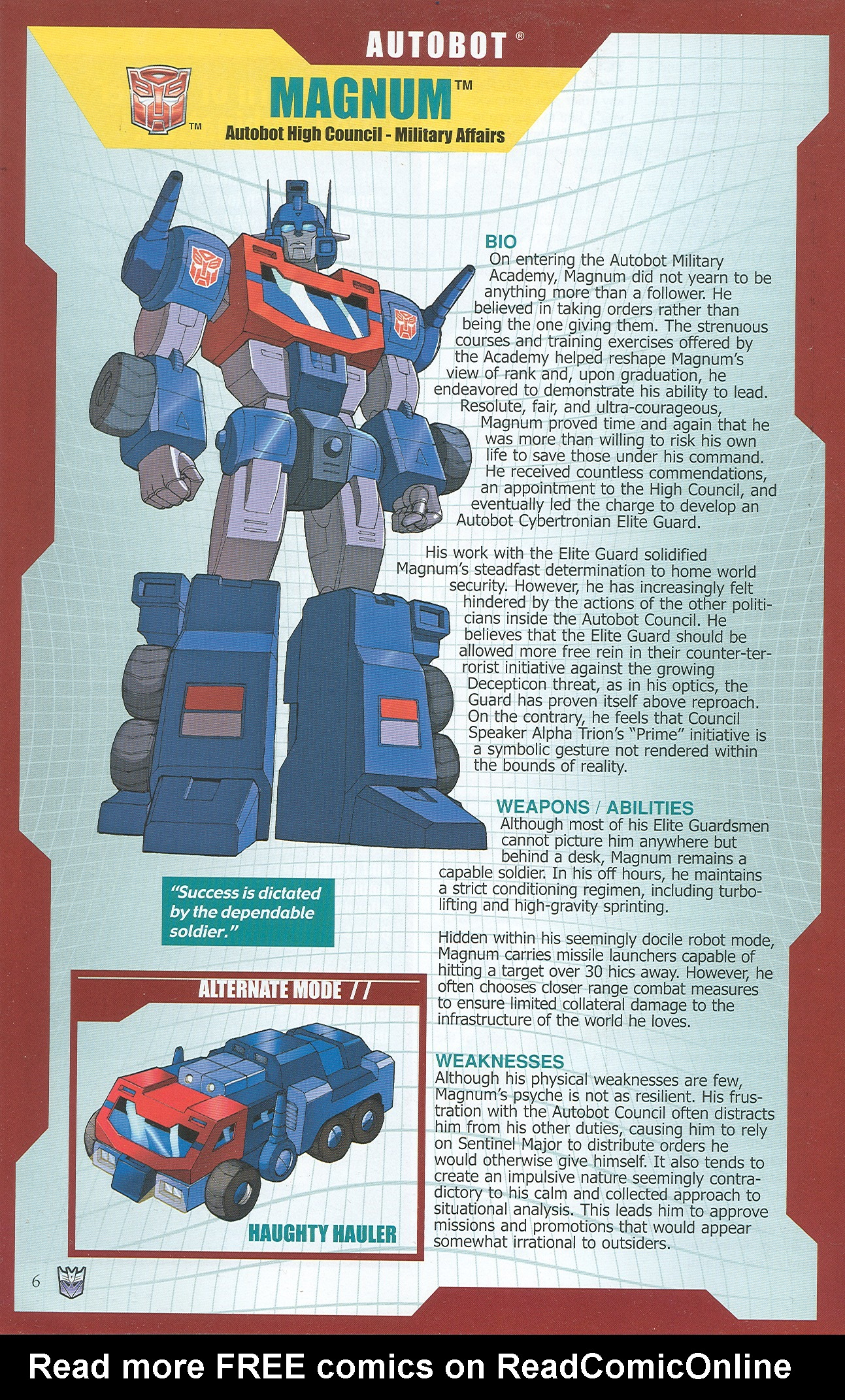 Read online Transformers: Collectors' Club comic -  Issue #32 - 6