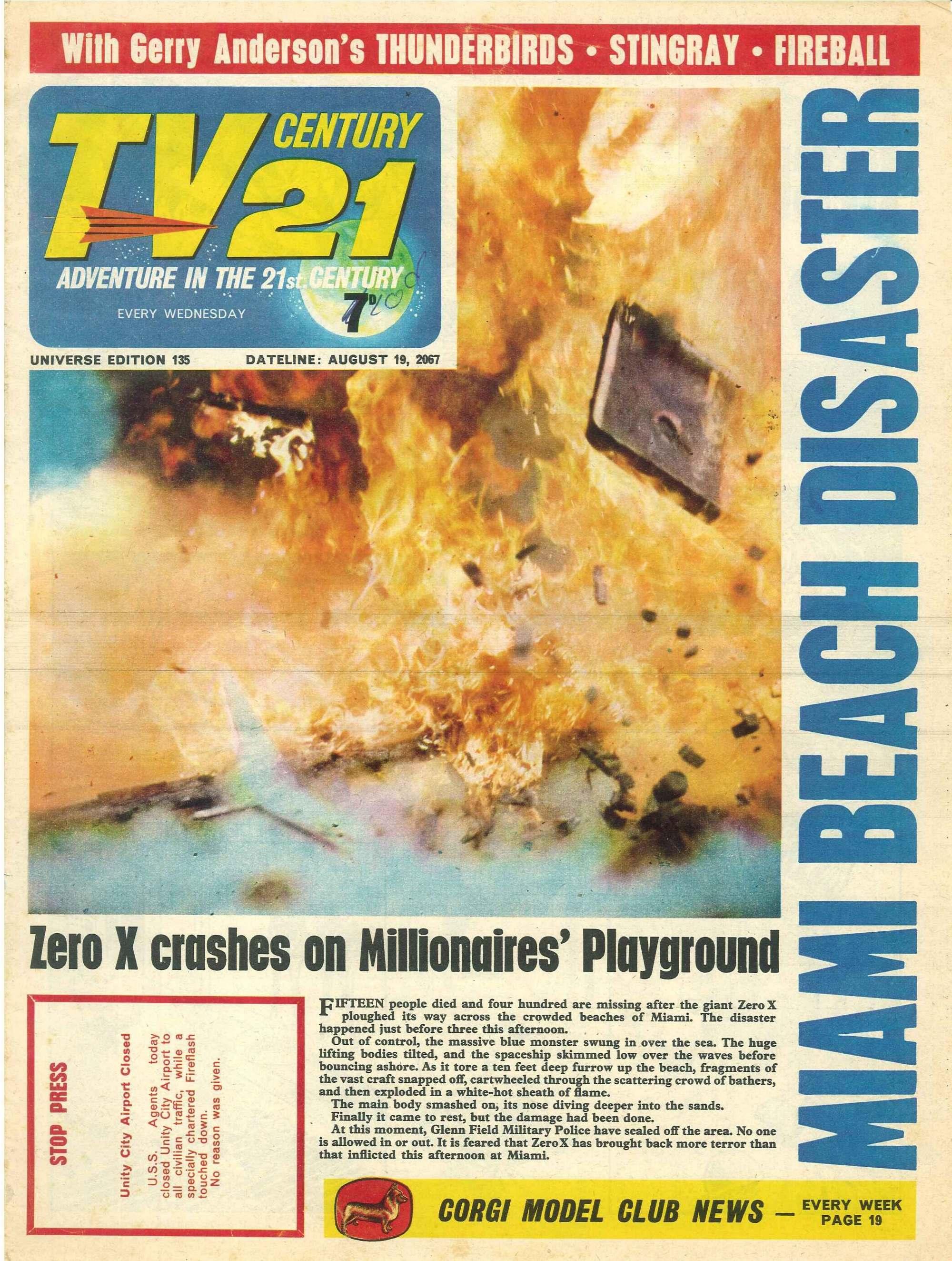 Read online TV Century 21 (TV 21) comic -  Issue #135 - 1