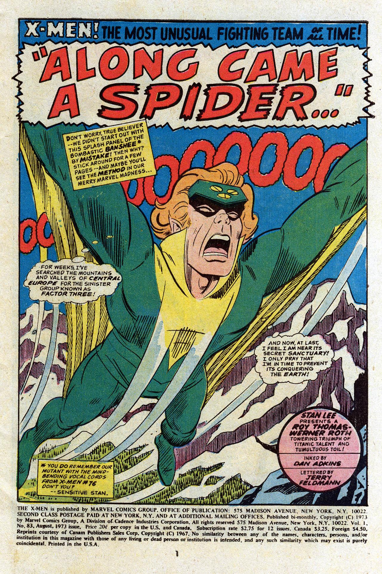 Read online Uncanny X-Men (1963) comic -  Issue #83 - 3
