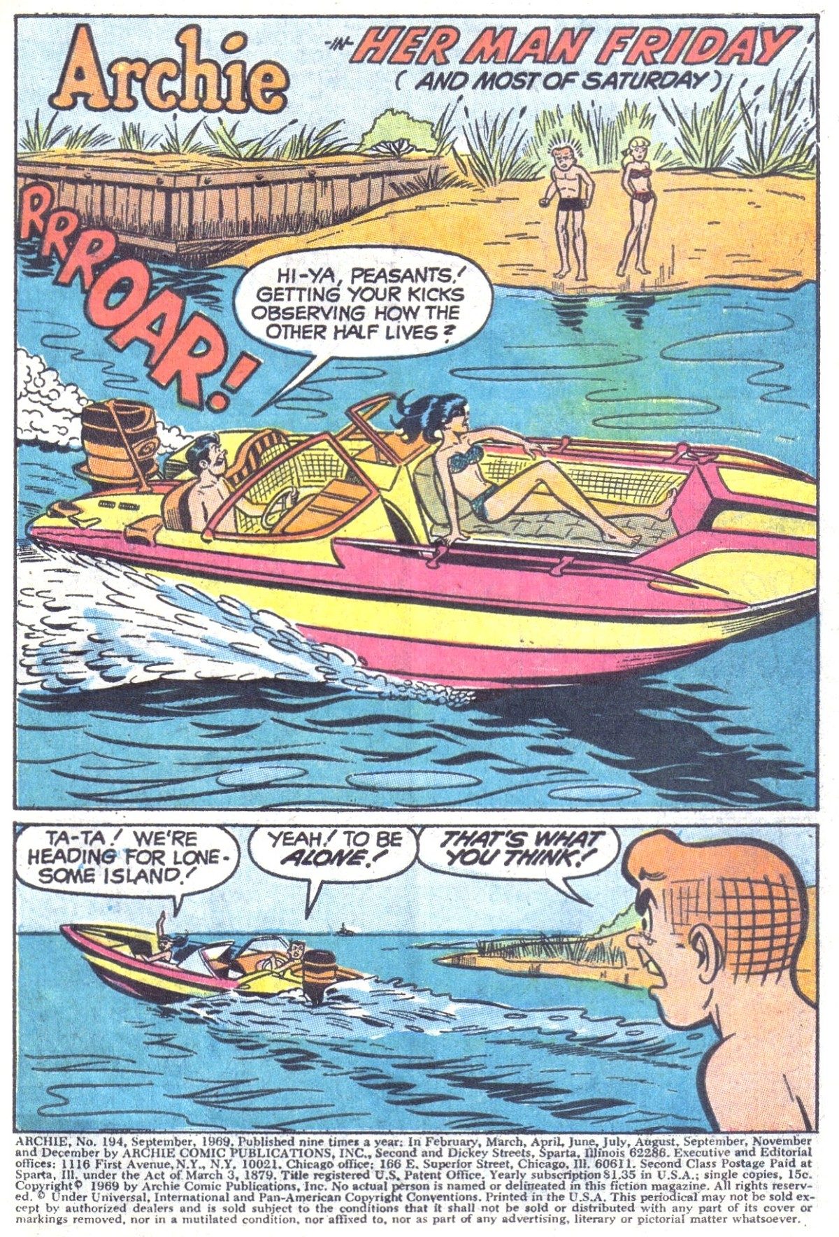 Read online Archie (1960) comic -  Issue #194 - 3