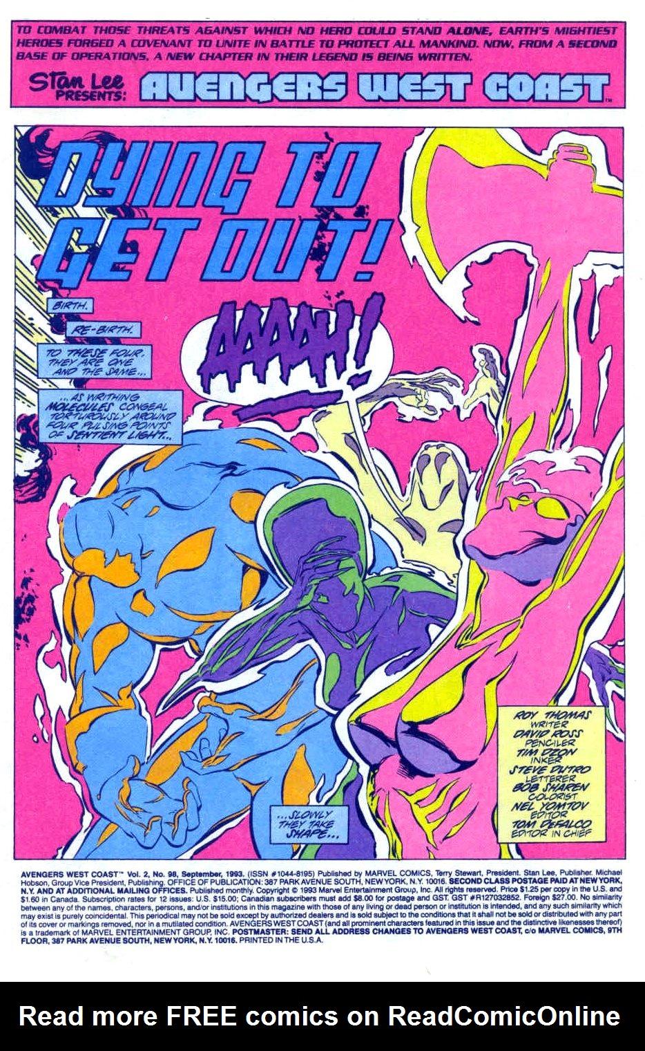 Avengers West Coast (1989) 98 Page 2