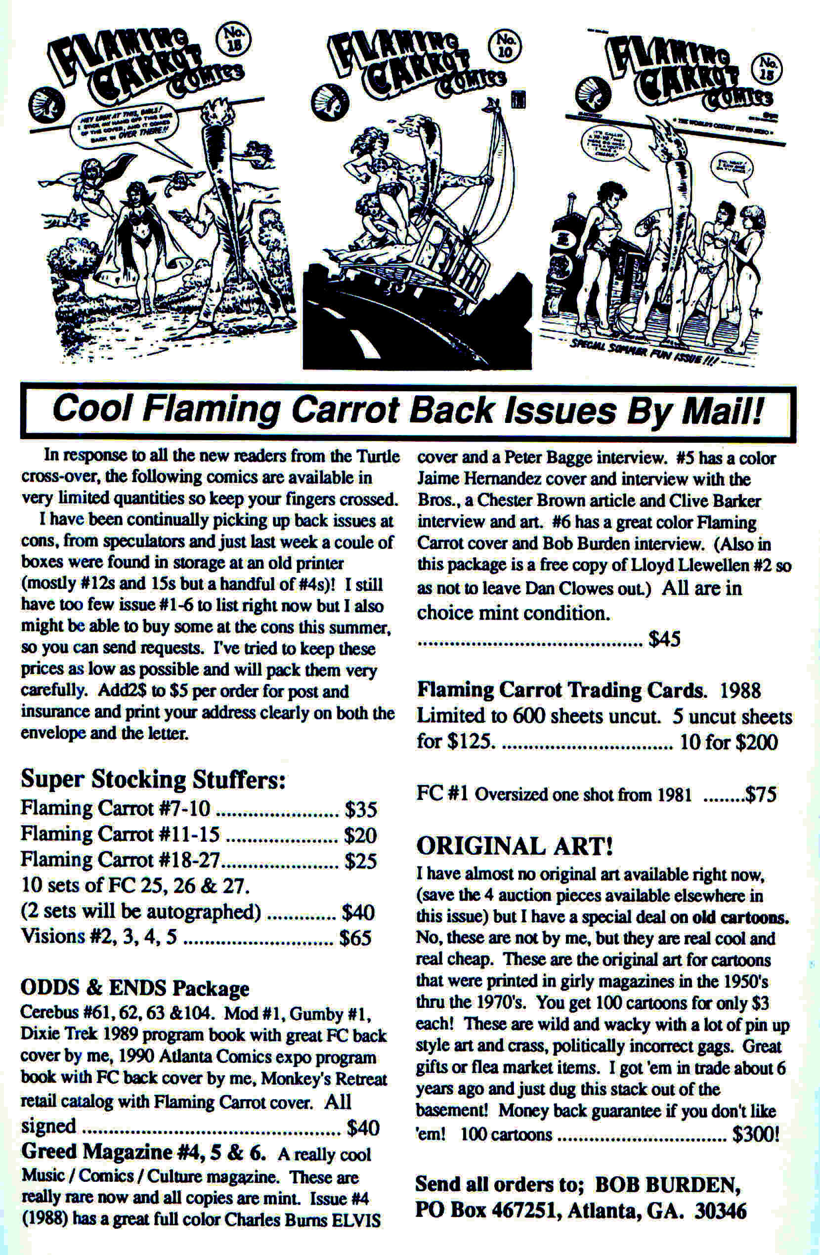 Read online Flaming Carrot Comics (1988) comic -  Issue #28 - 37