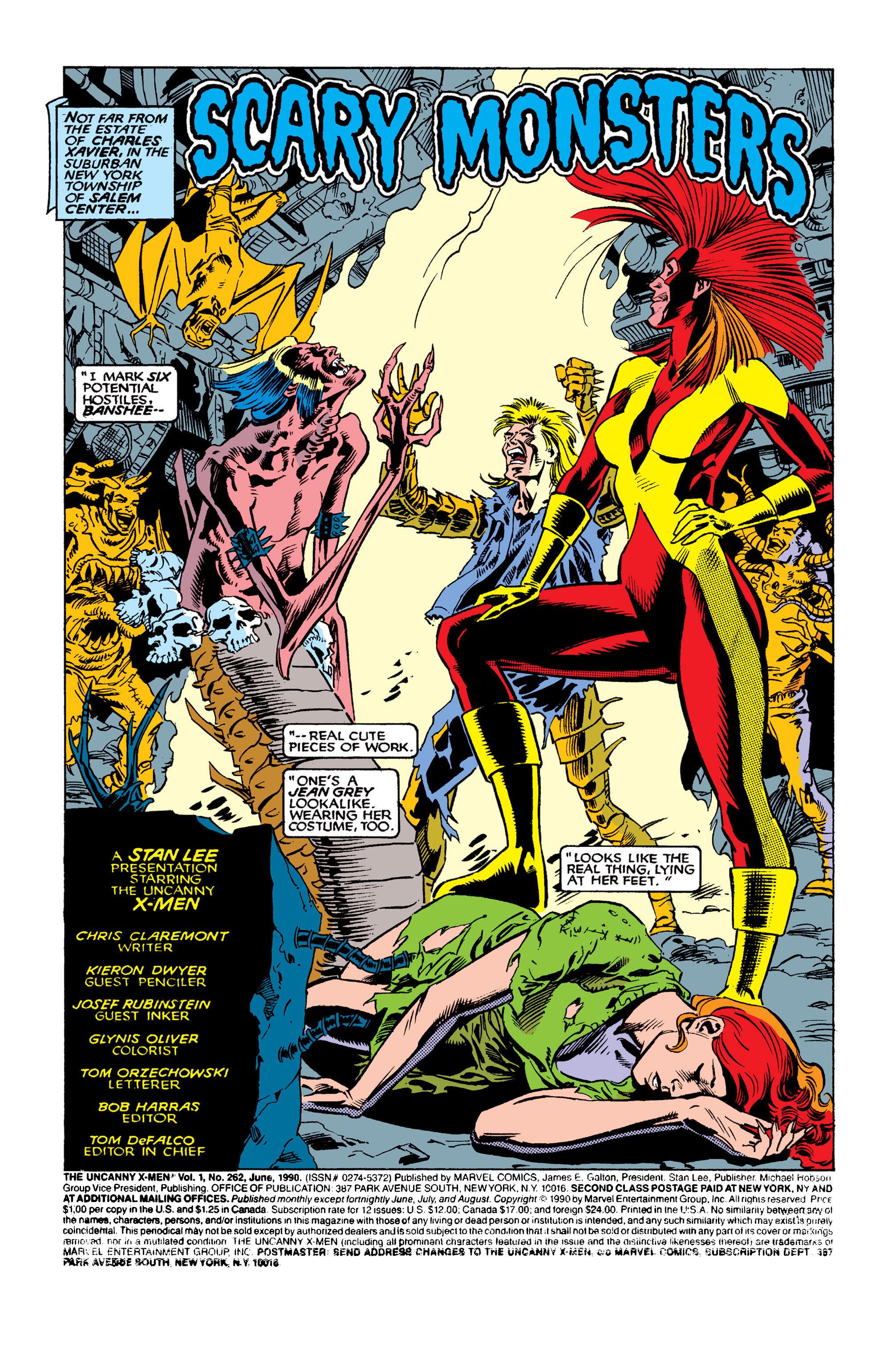 Read online Uncanny X-Men (1963) comic -  Issue #262 - 2