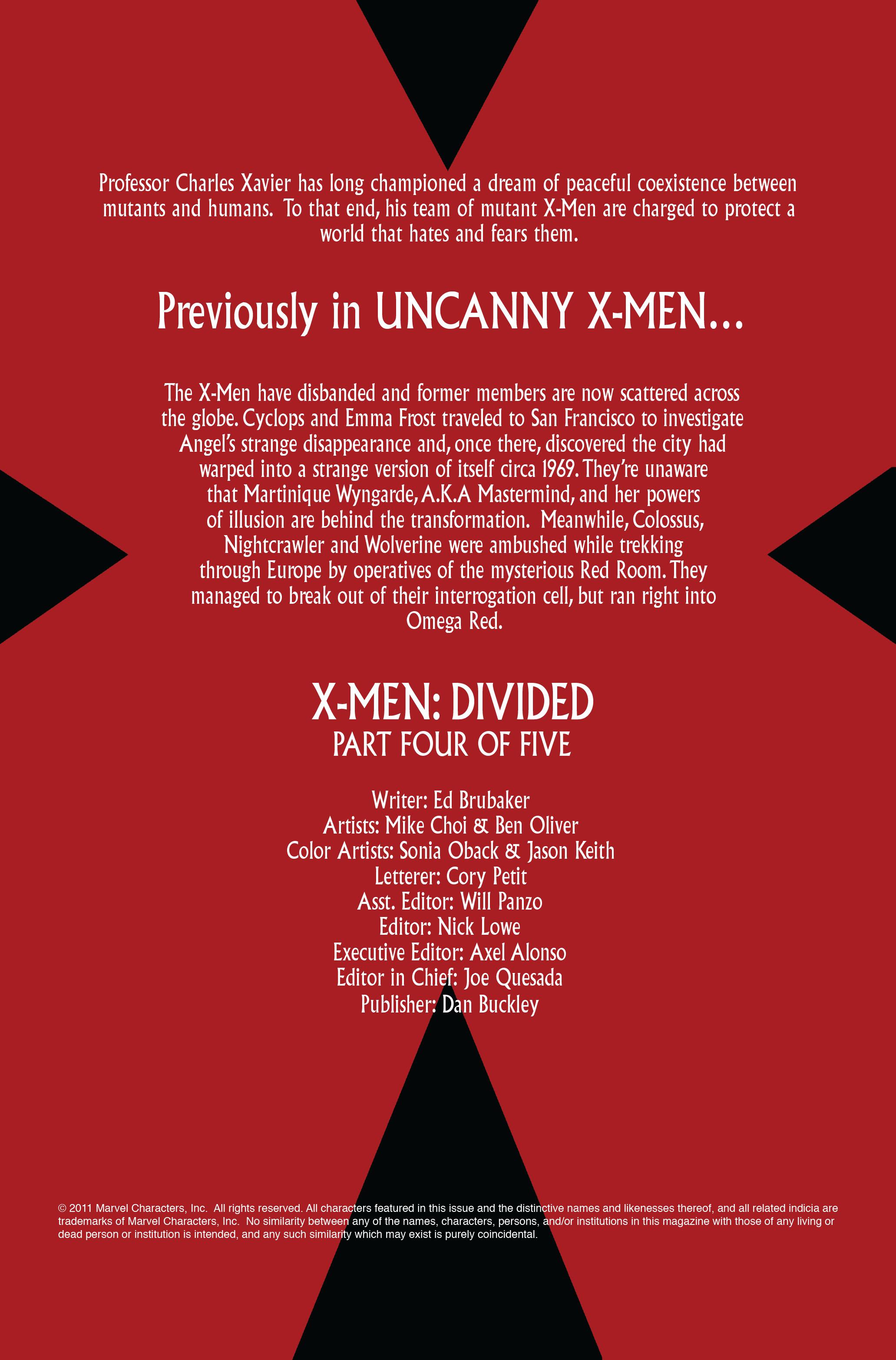 Read online Uncanny X-Men (1963) comic -  Issue #499 - 2