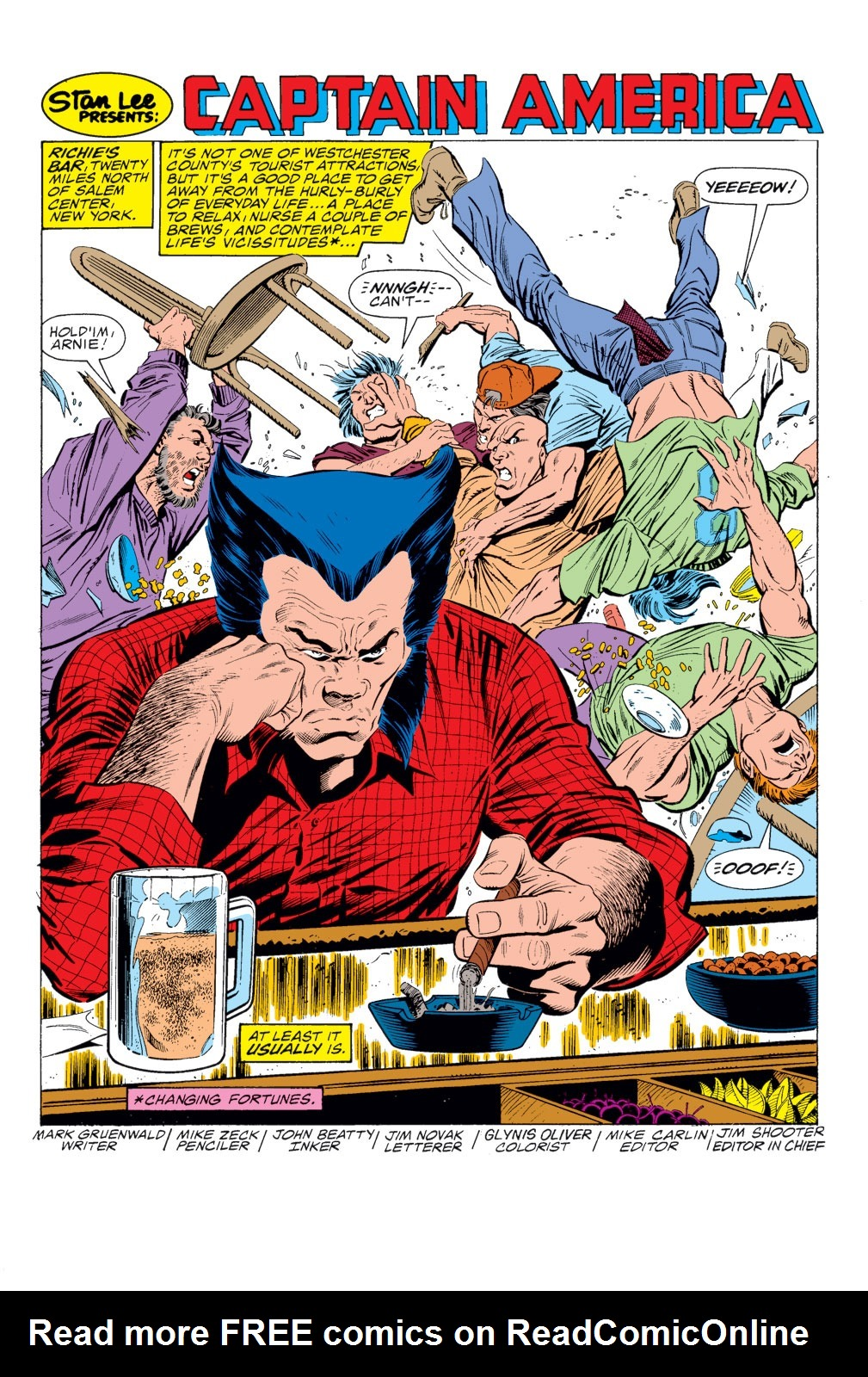 Read online Captain America (1968) comic -  Issue # _Annual 8 - 2