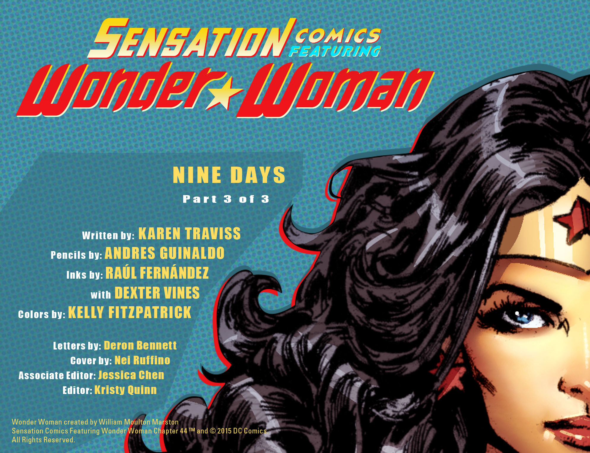 Read online Sensation Comics Featuring Wonder Woman comic -  Issue #44 - 3