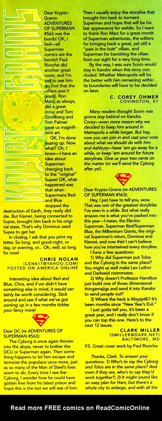 Read online Adventures of Superman (1987) comic -  Issue #569 - 24