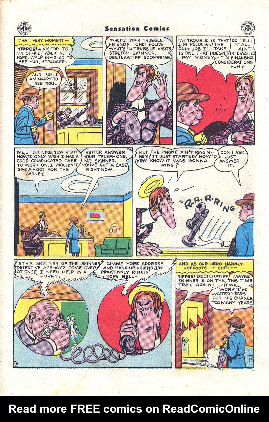 Read online Sensation (Mystery) Comics comic -  Issue #43 - 42