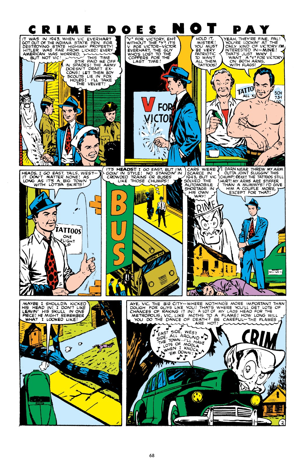 Read online Crime Does Not Pay Archives comic -  Issue # TPB 10 (Part 1) - 70