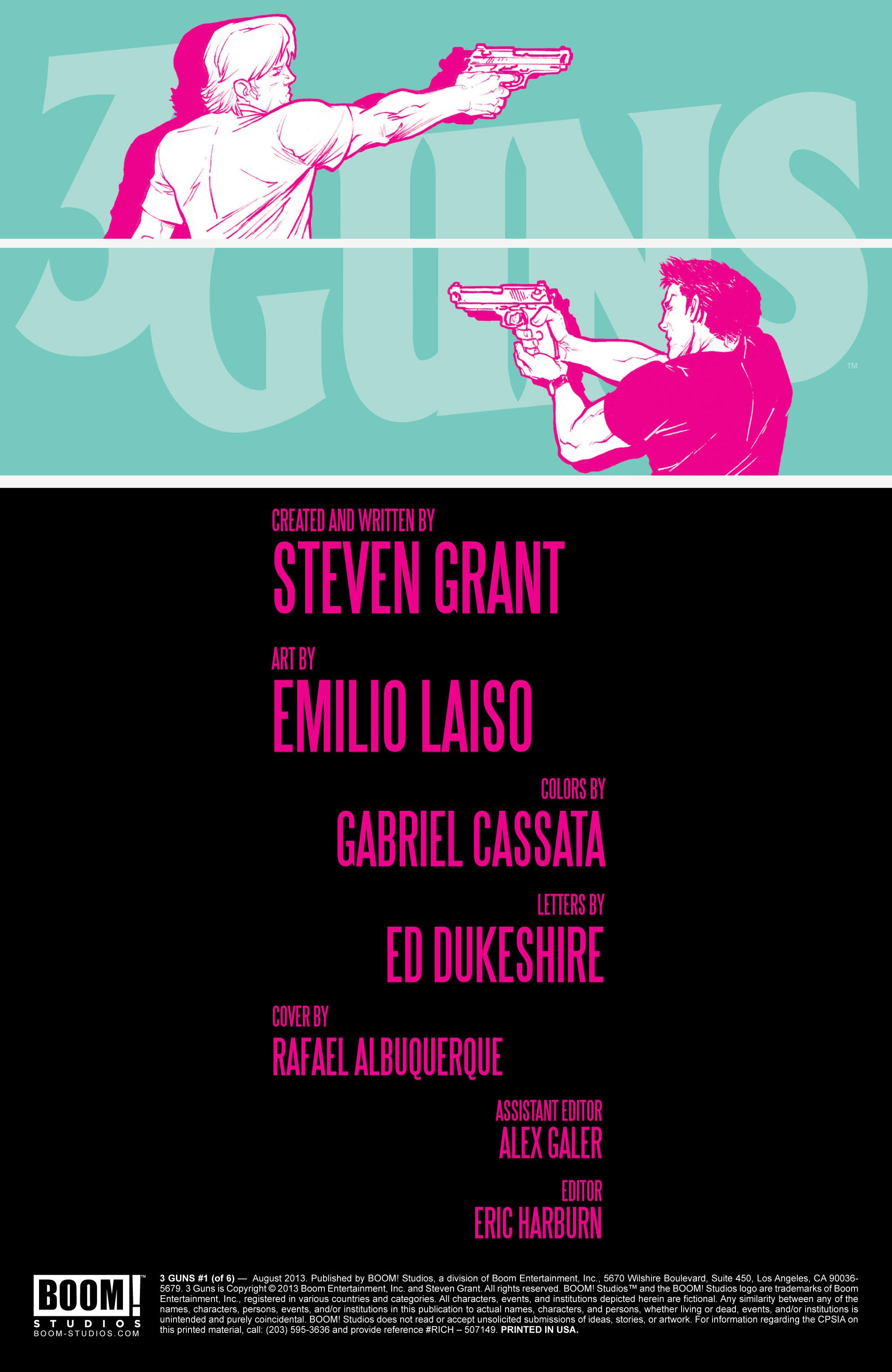 Read online 3 Guns comic -  Issue #1 - 2