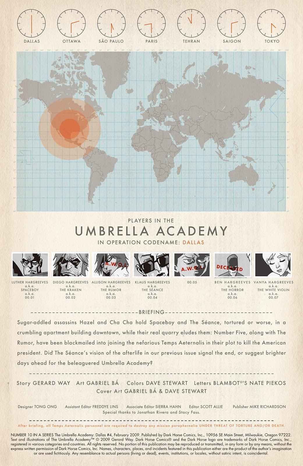 The Umbrella Academy: Dallas issue 4 - Page 1