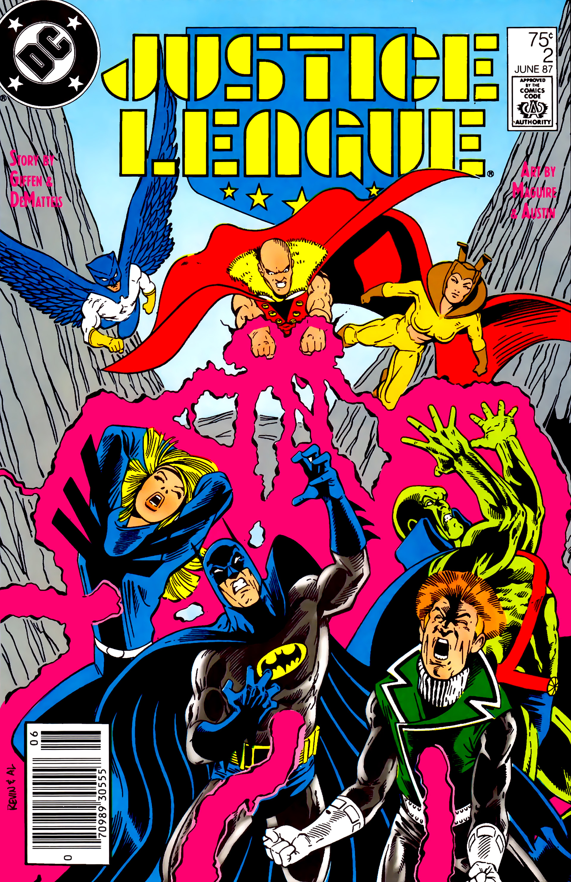 Read online Justice League (1987) comic -  Issue #2 - 1
