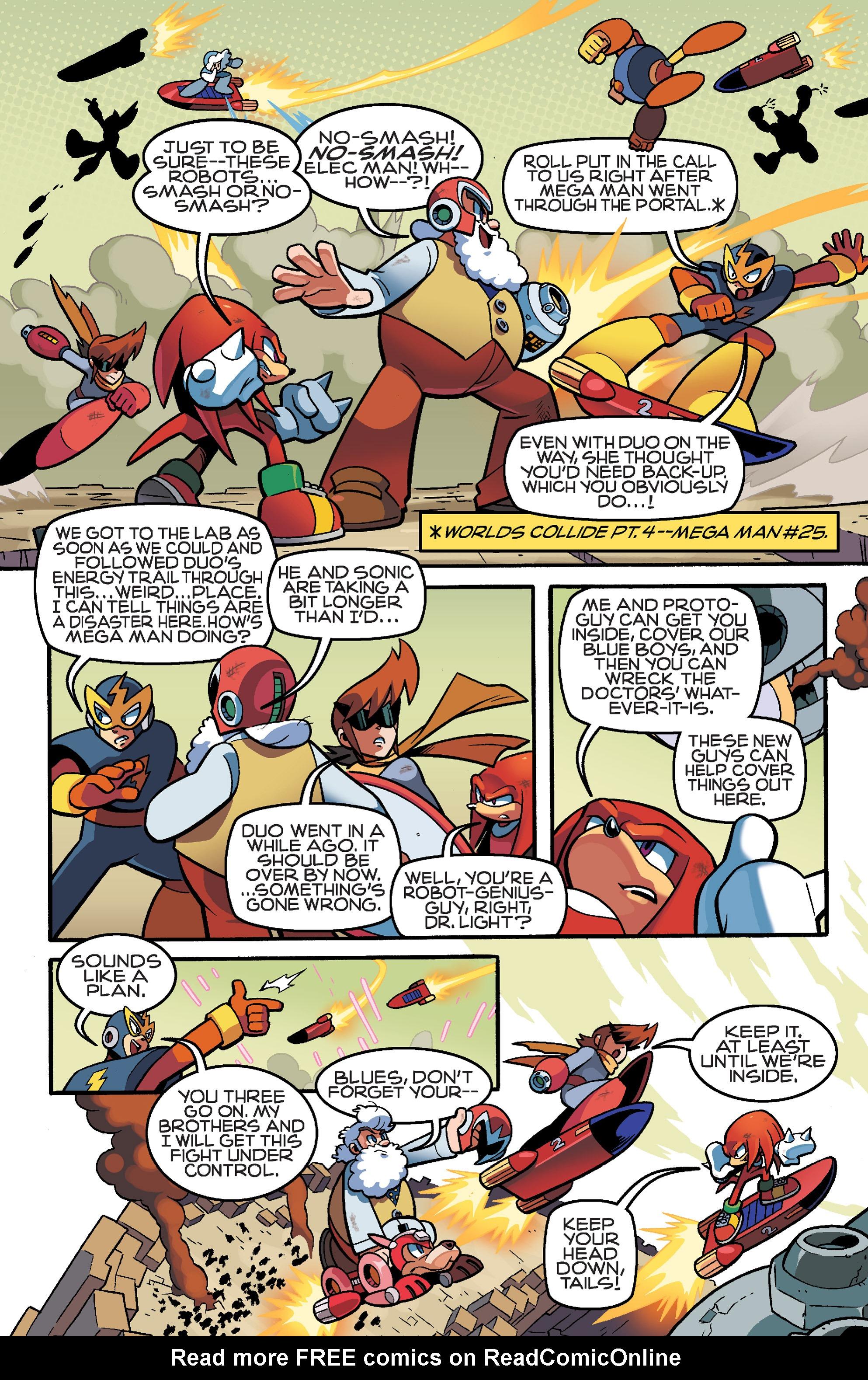 Read online Sonic Mega Man Worlds Collide comic -  Issue # Vol 3 - 99