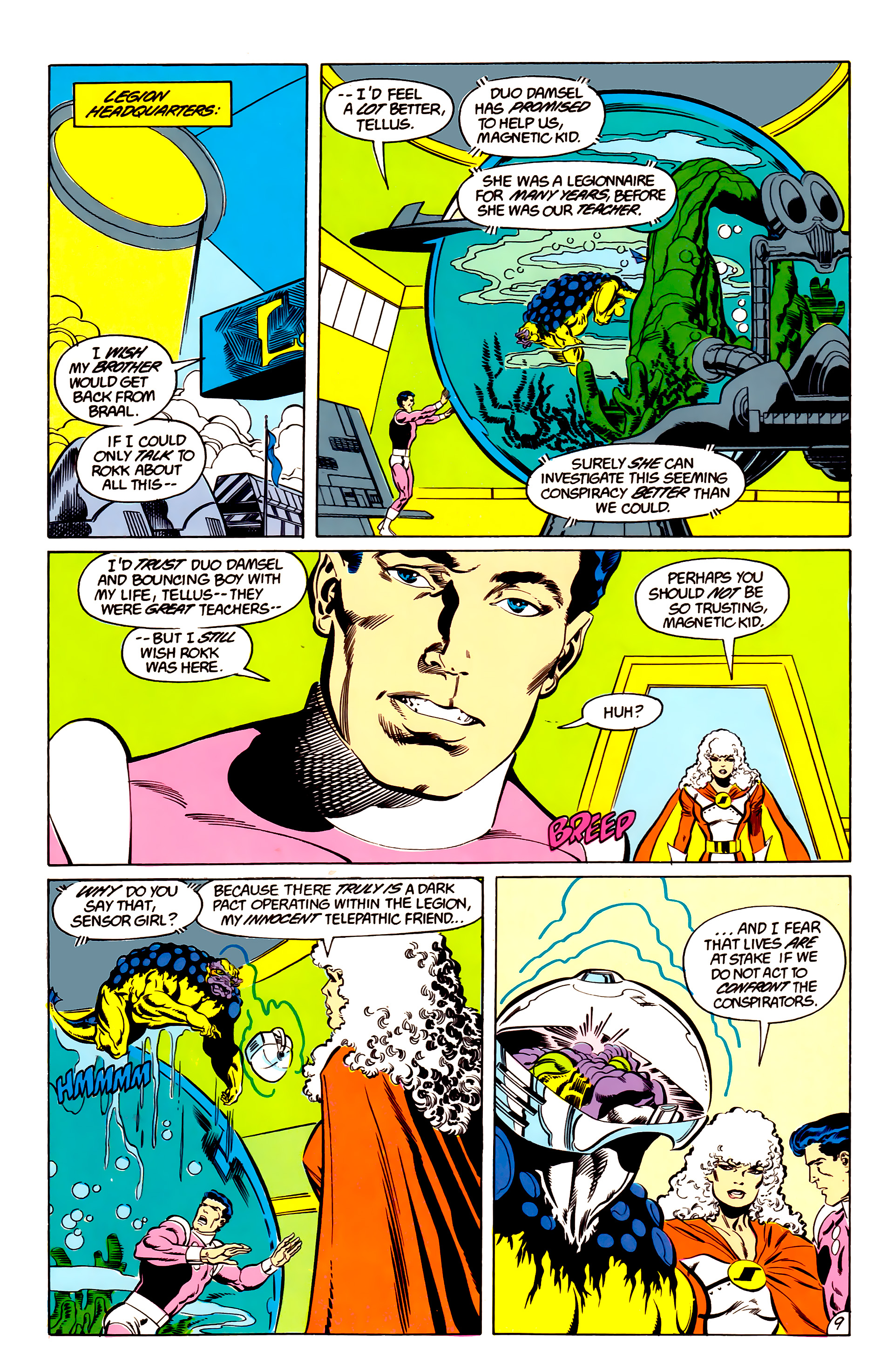 Legion of Super-Heroes (1984) 48 Page 9