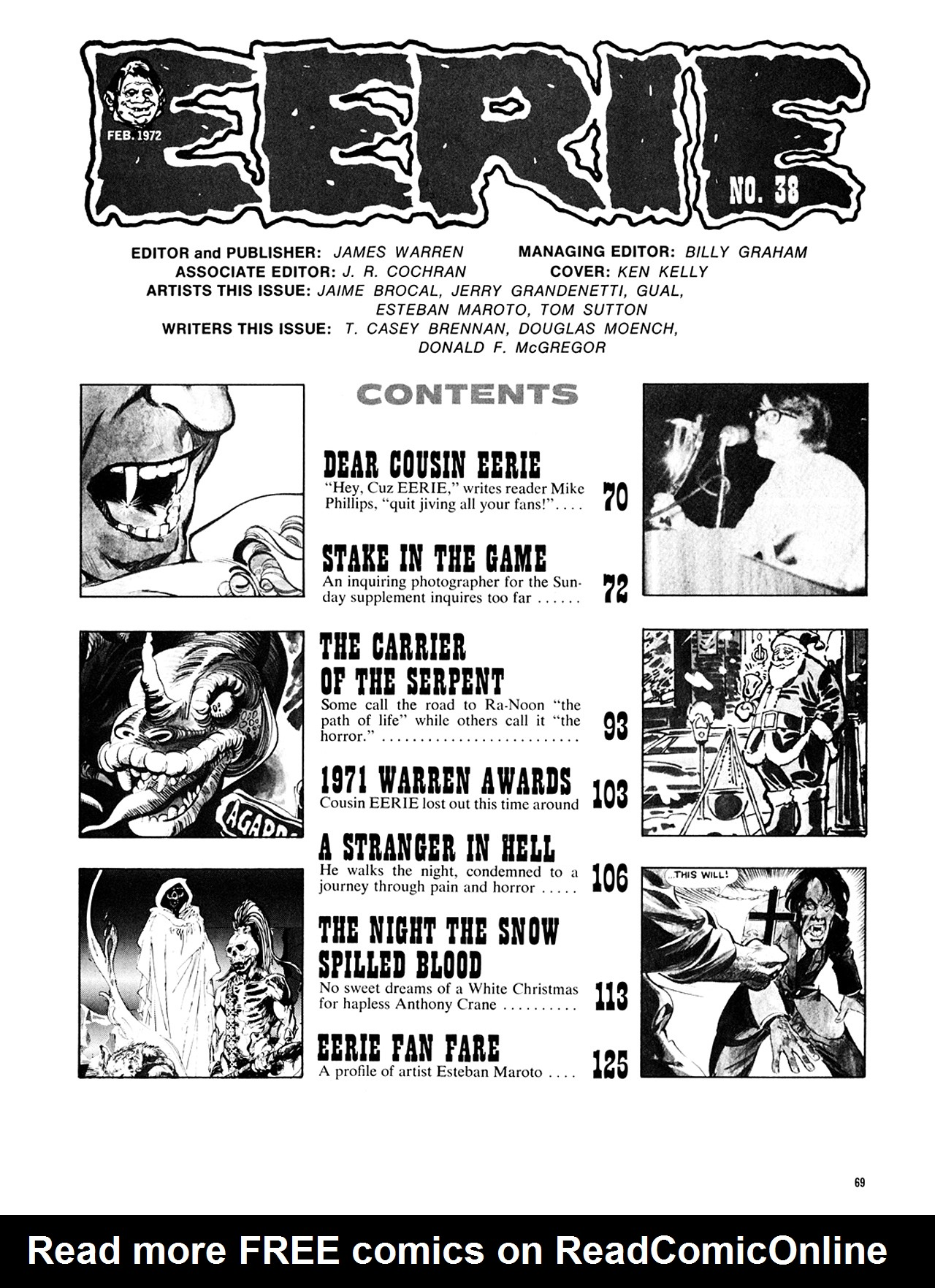 Read online Eerie Archives comic -  Issue # TPB 8 - 70