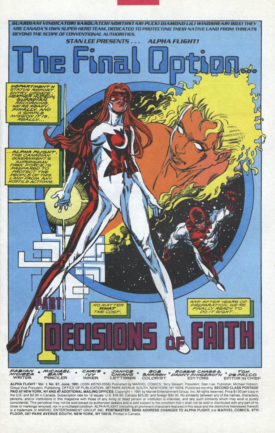Read online Alpha Flight (1983) comic -  Issue #97 - 2