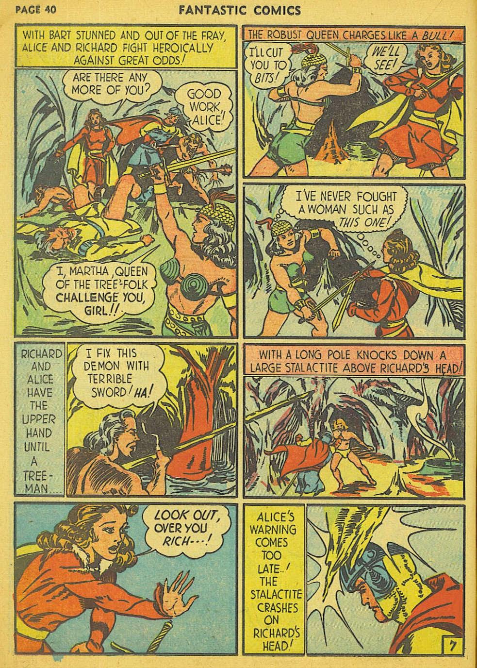 Read online Fantastic Comics comic -  Issue #15 - 34
