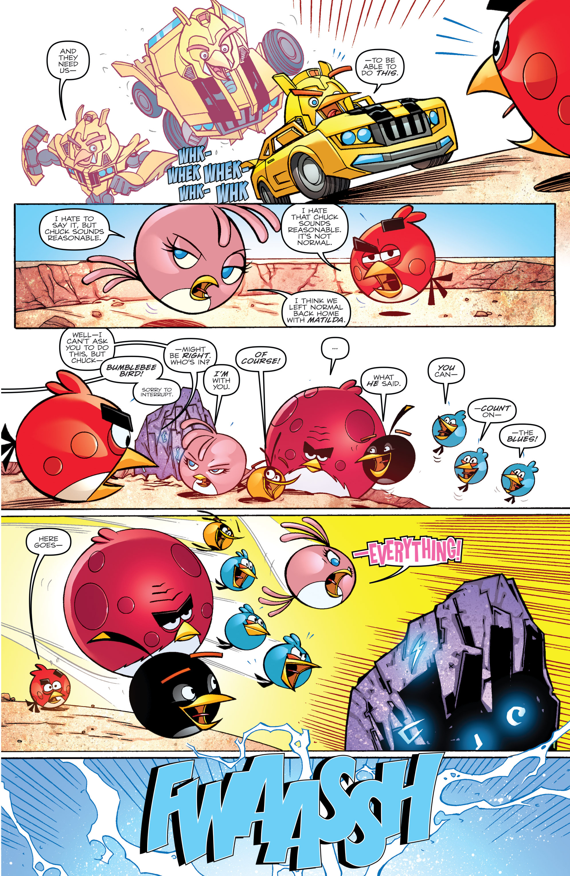 Read online Angry Birds Transformers comic -  Issue #2 - 7