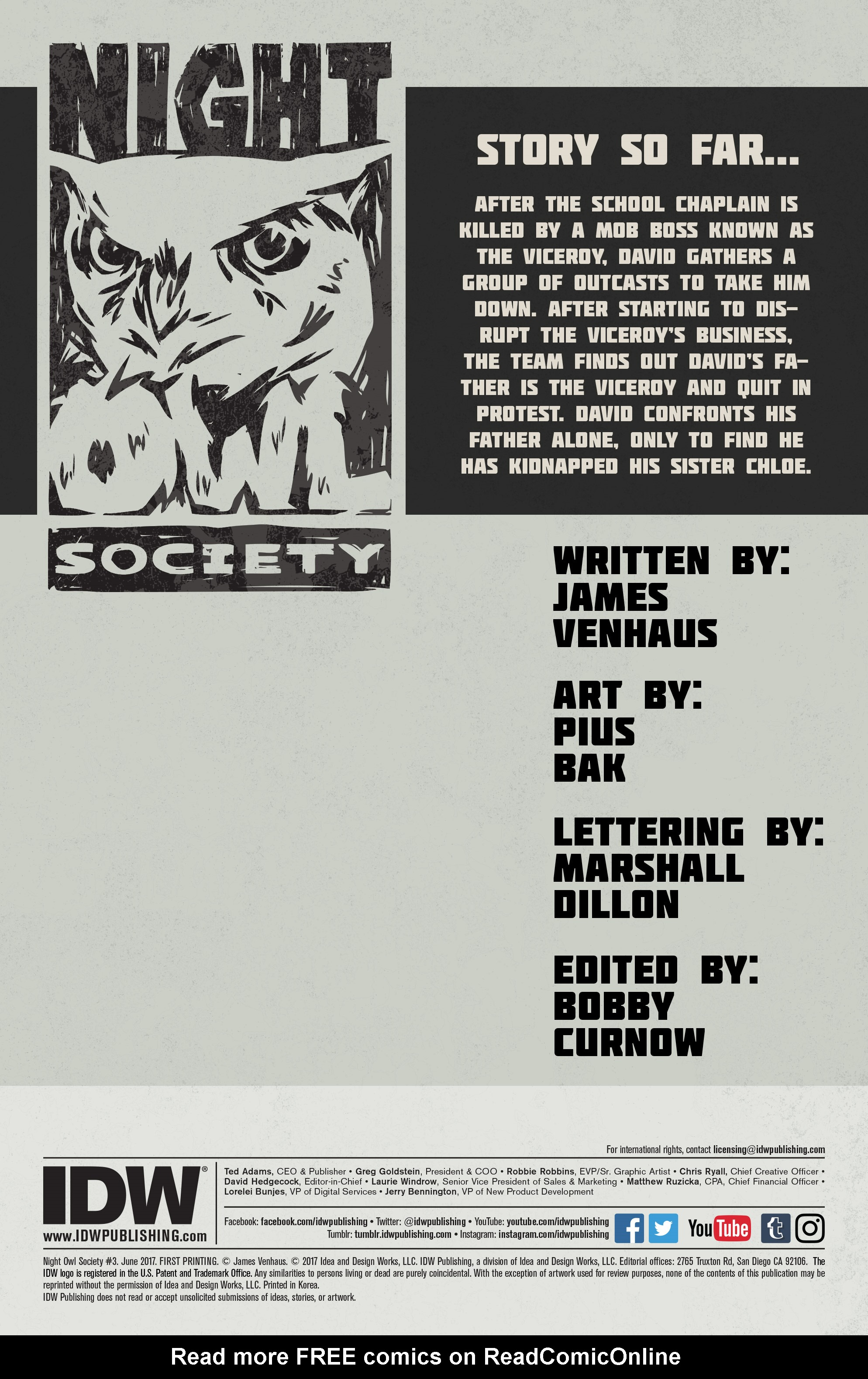 Read online Night Owl Society comic -  Issue #3 - 2