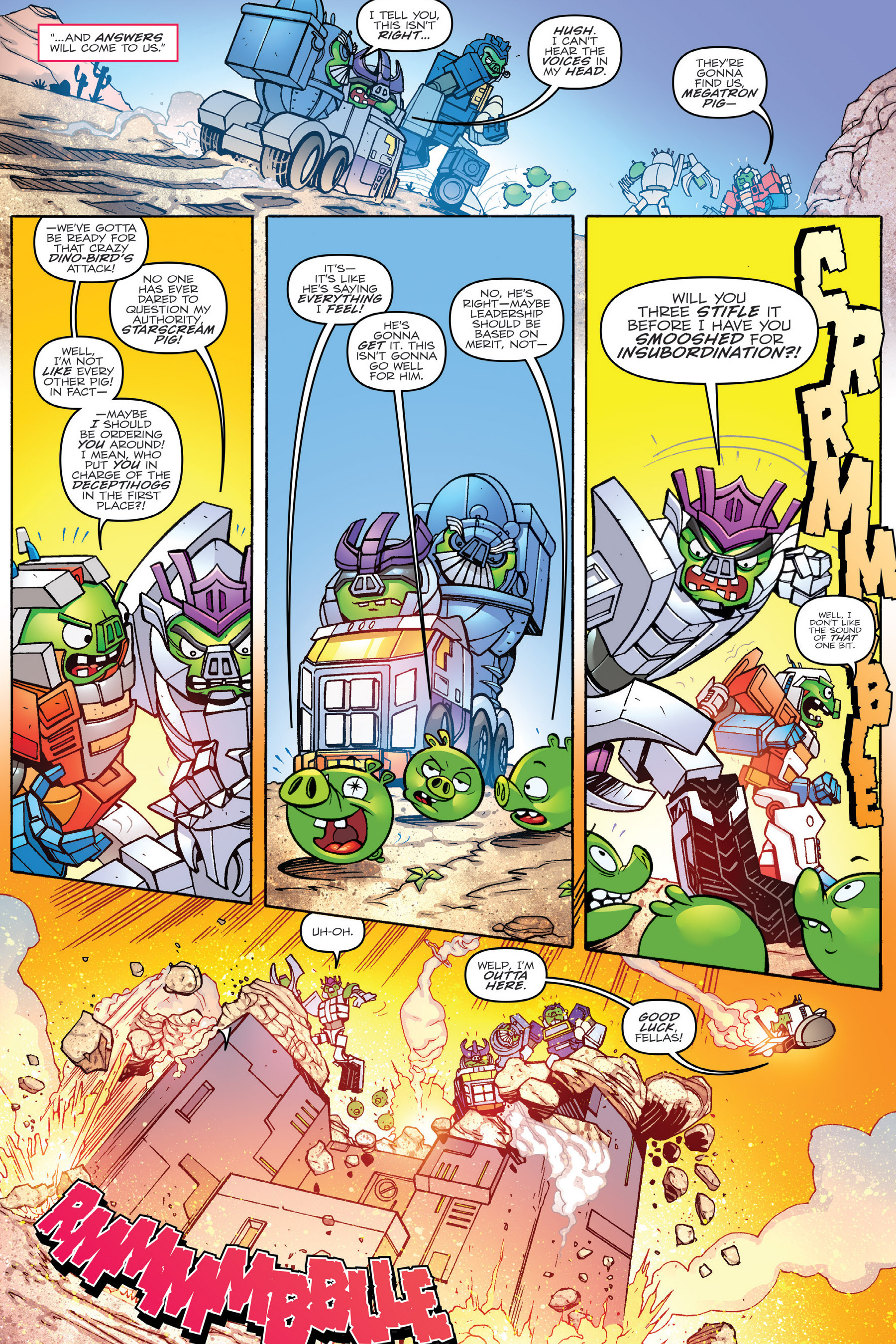 Read online Angry Birds Transformers: Age of Eggstinction comic -  Issue # Full - 35
