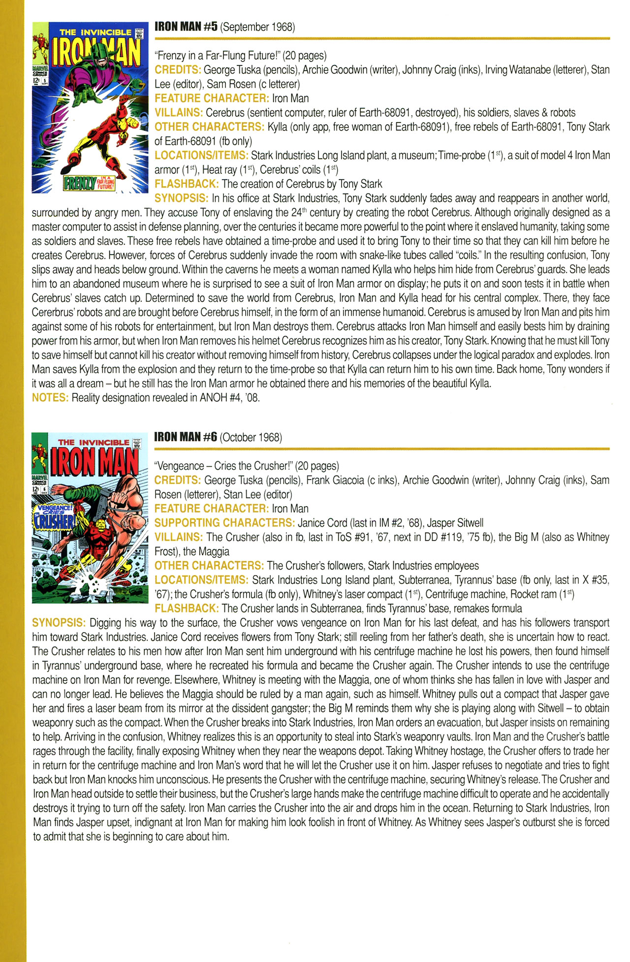 Read online Official Index to the Marvel Universe comic -  Issue #2 - 42