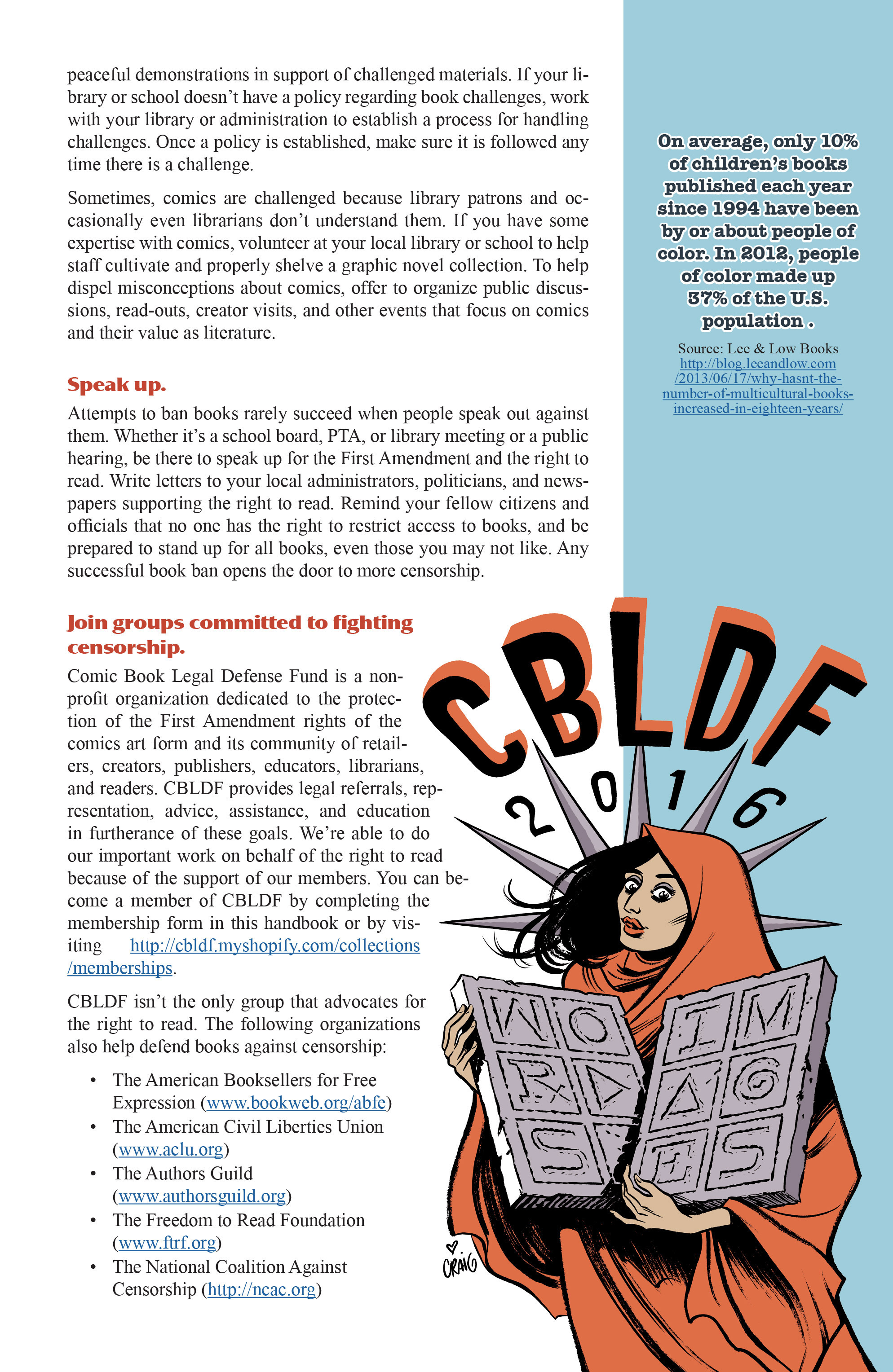 Read online CBLDF Banned Books Week Handbook 2016 comic -  Issue # Full - 11