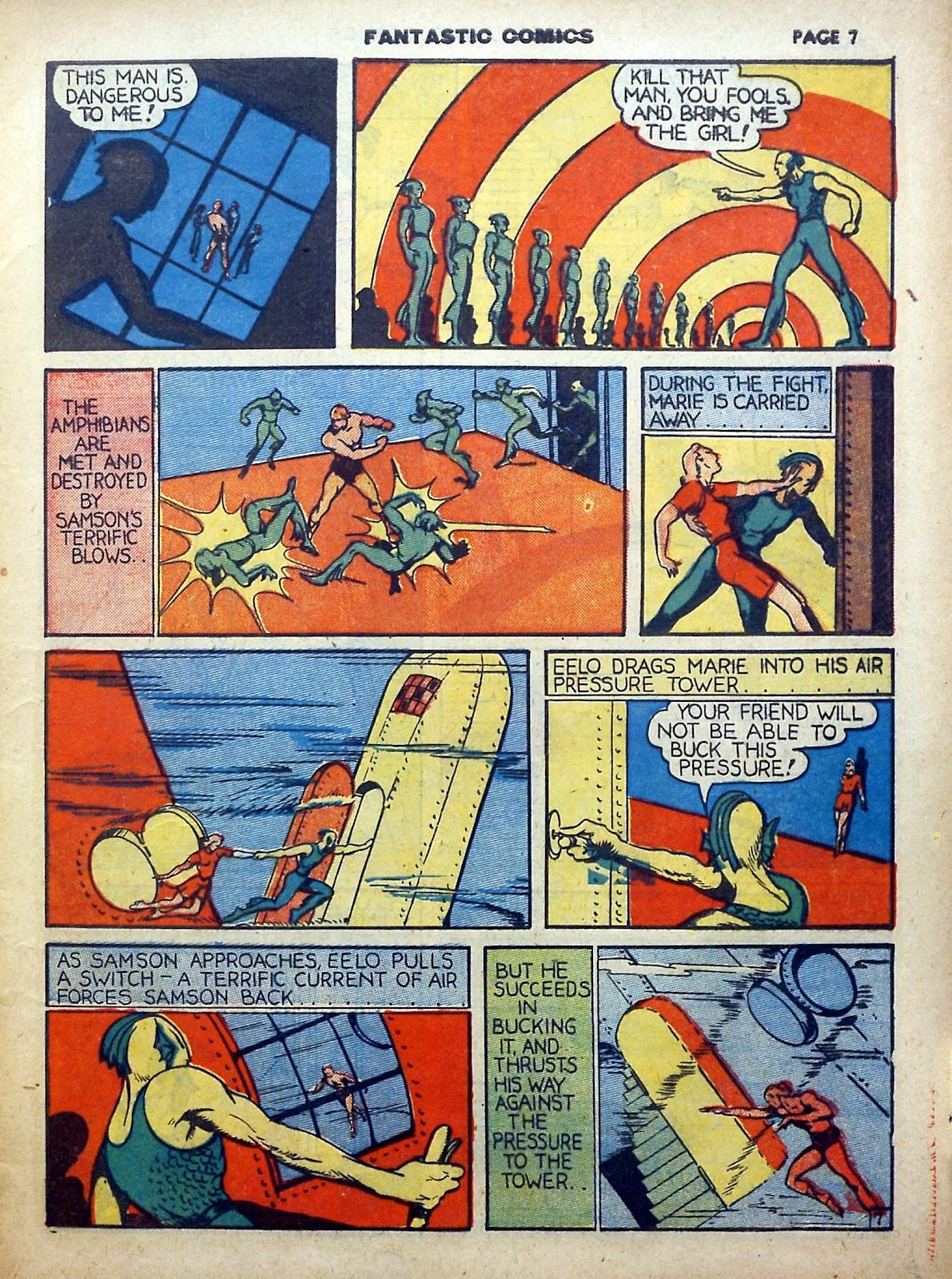 Read online Fantastic Comics comic -  Issue #5 - 8