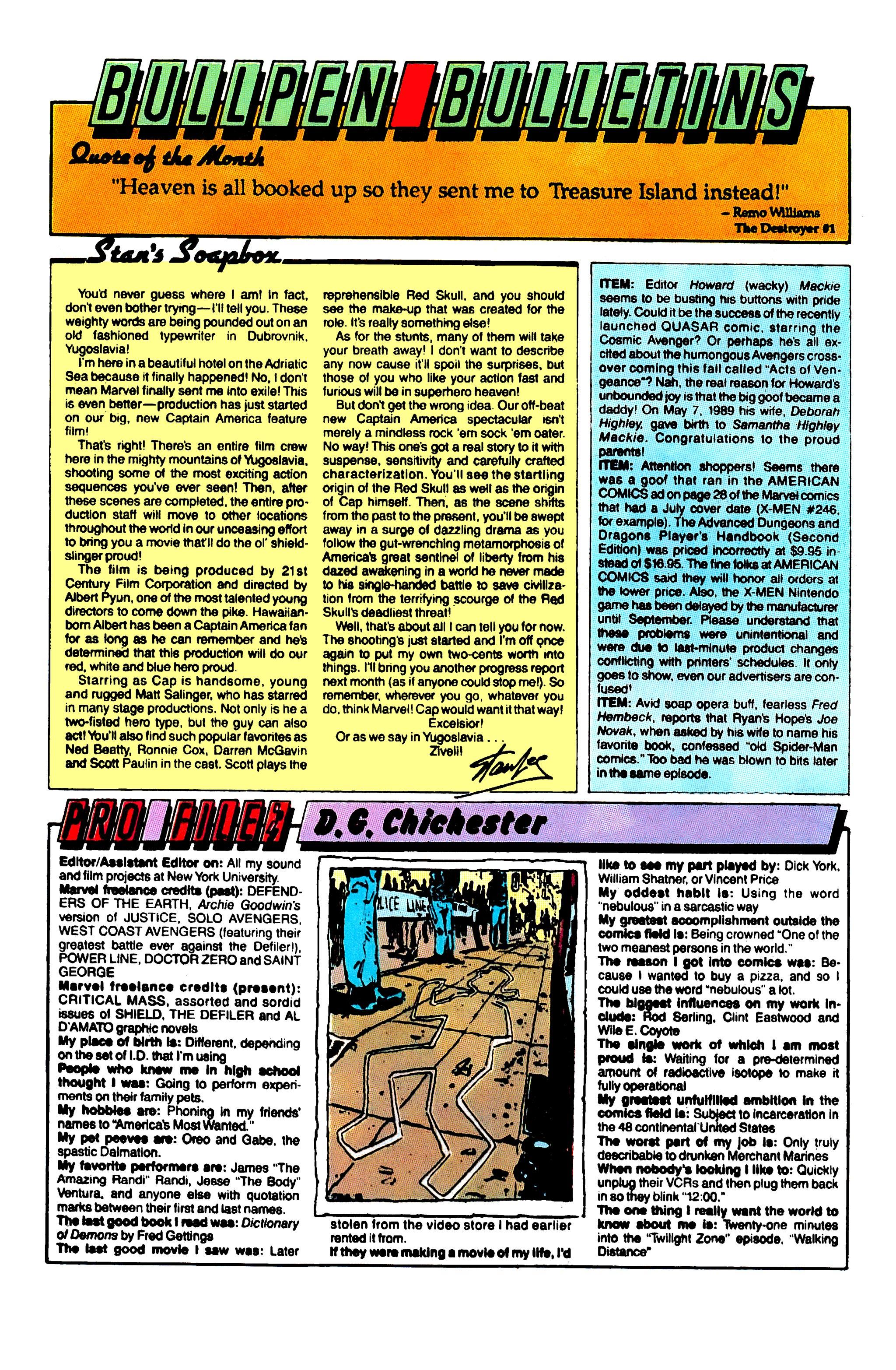 Read online Uncanny X-Men (1963) comic -  Issue #254 - 21