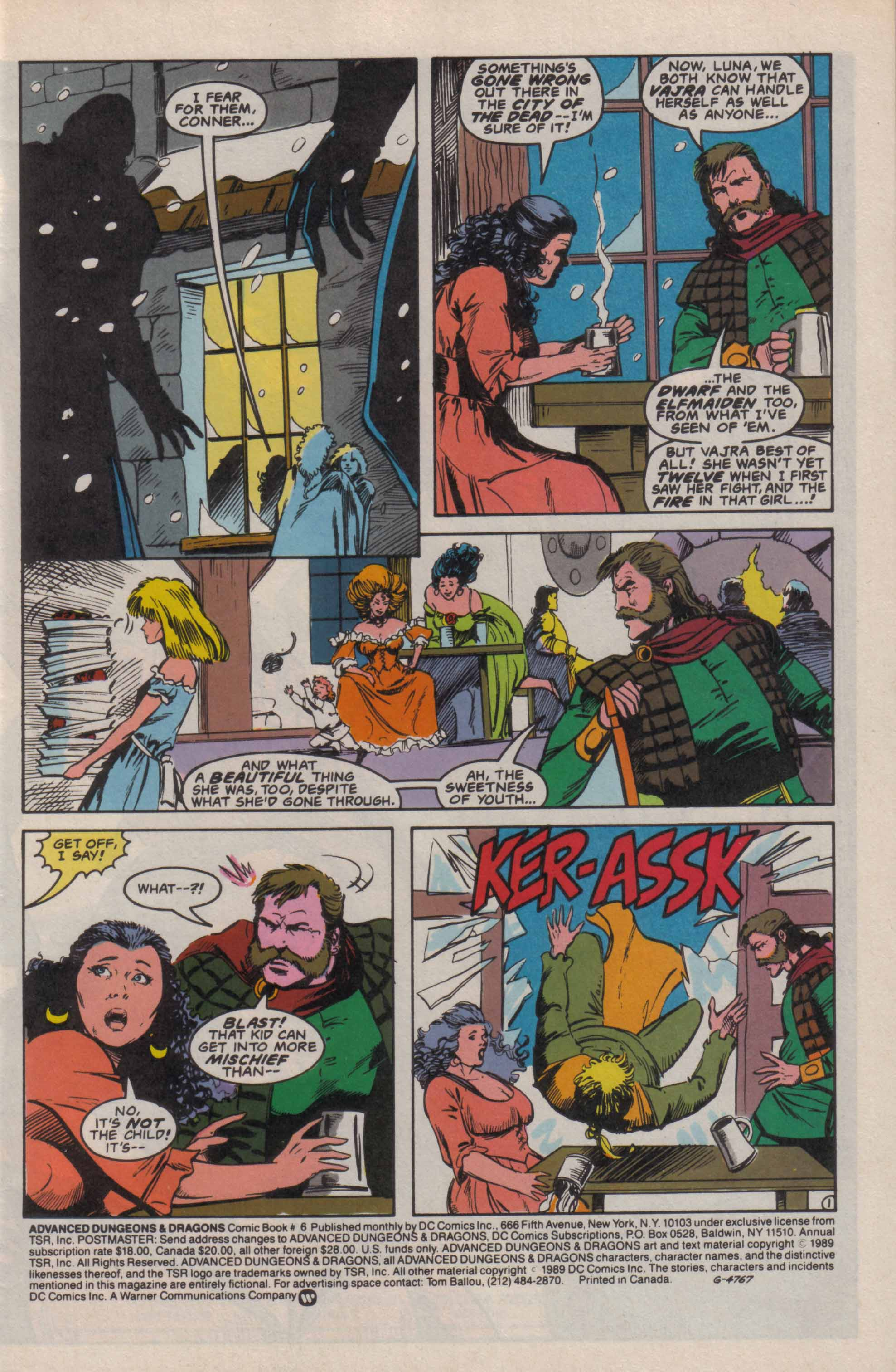 Read online Advanced Dungeons & Dragons comic -  Issue #6 - 2