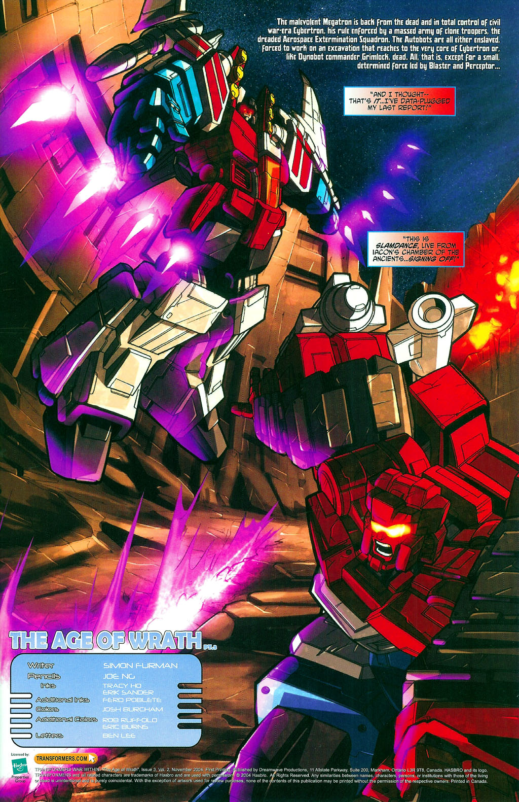 """Read online Transformers War Within: """"The Age of Wrath"""" comic -  Issue #3 - 2"""