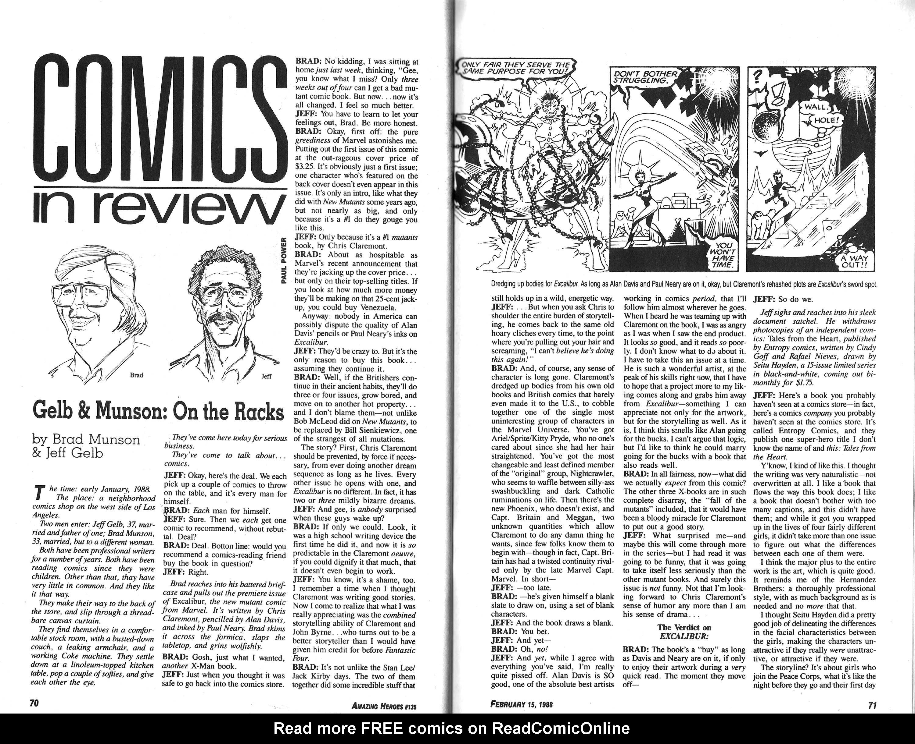 Read online Amazing Heroes comic -  Issue #135 - 36