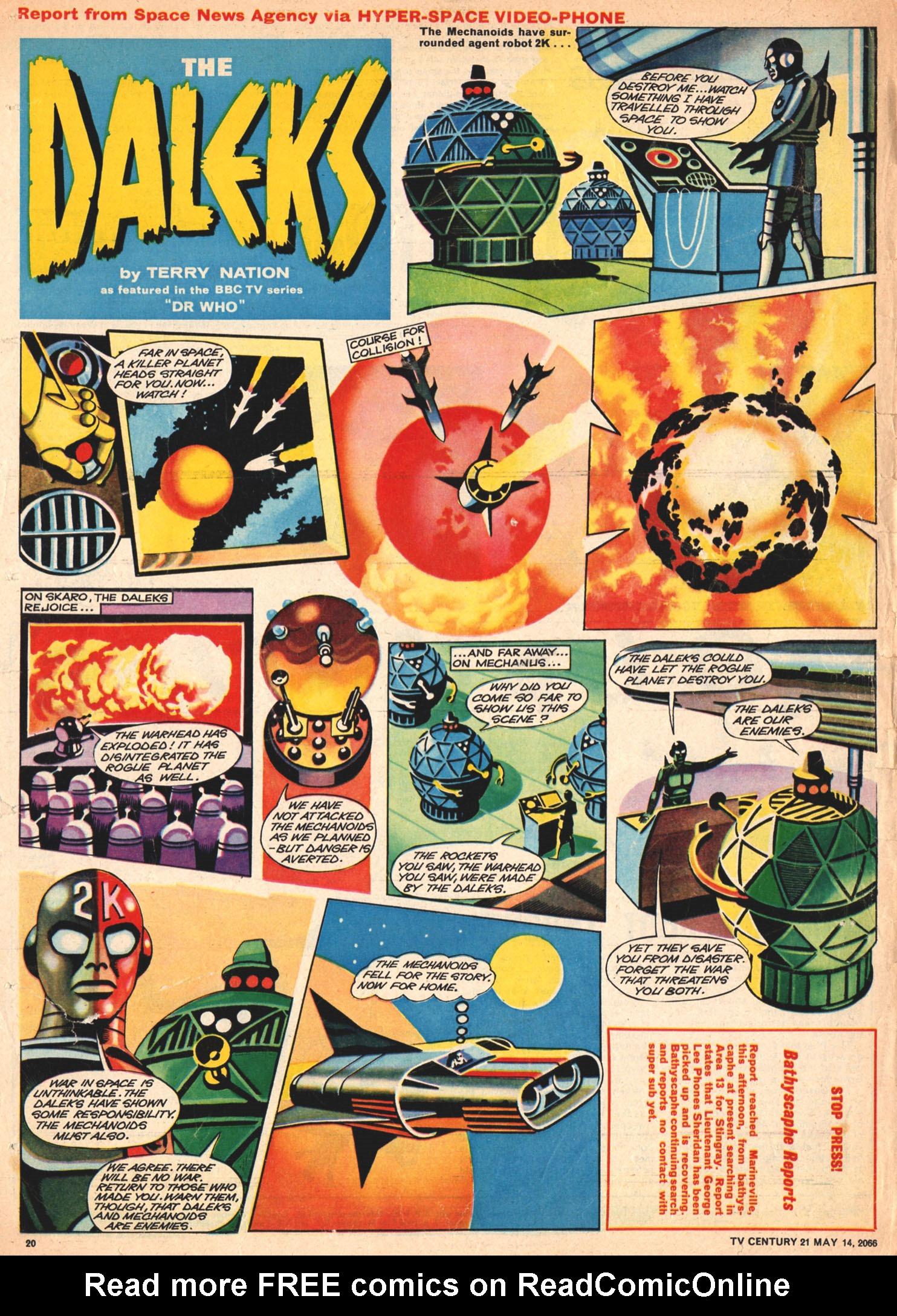 Read online TV Century 21 (TV 21) comic -  Issue #69 - 19
