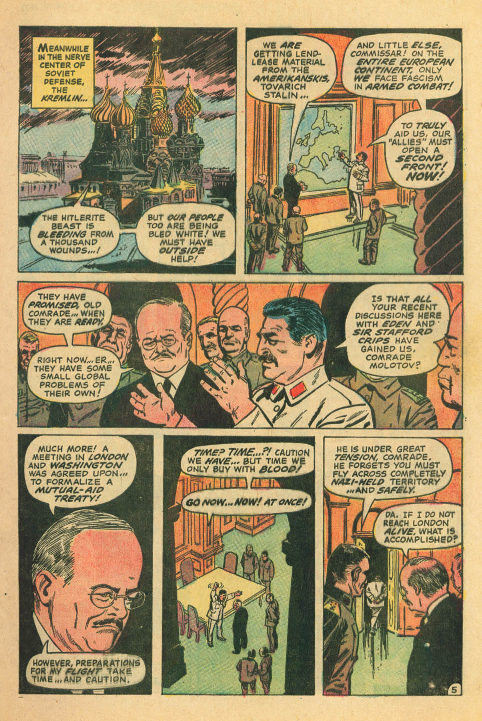 Read online Star Spangled War Stories (1952) comic -  Issue #172 - 5