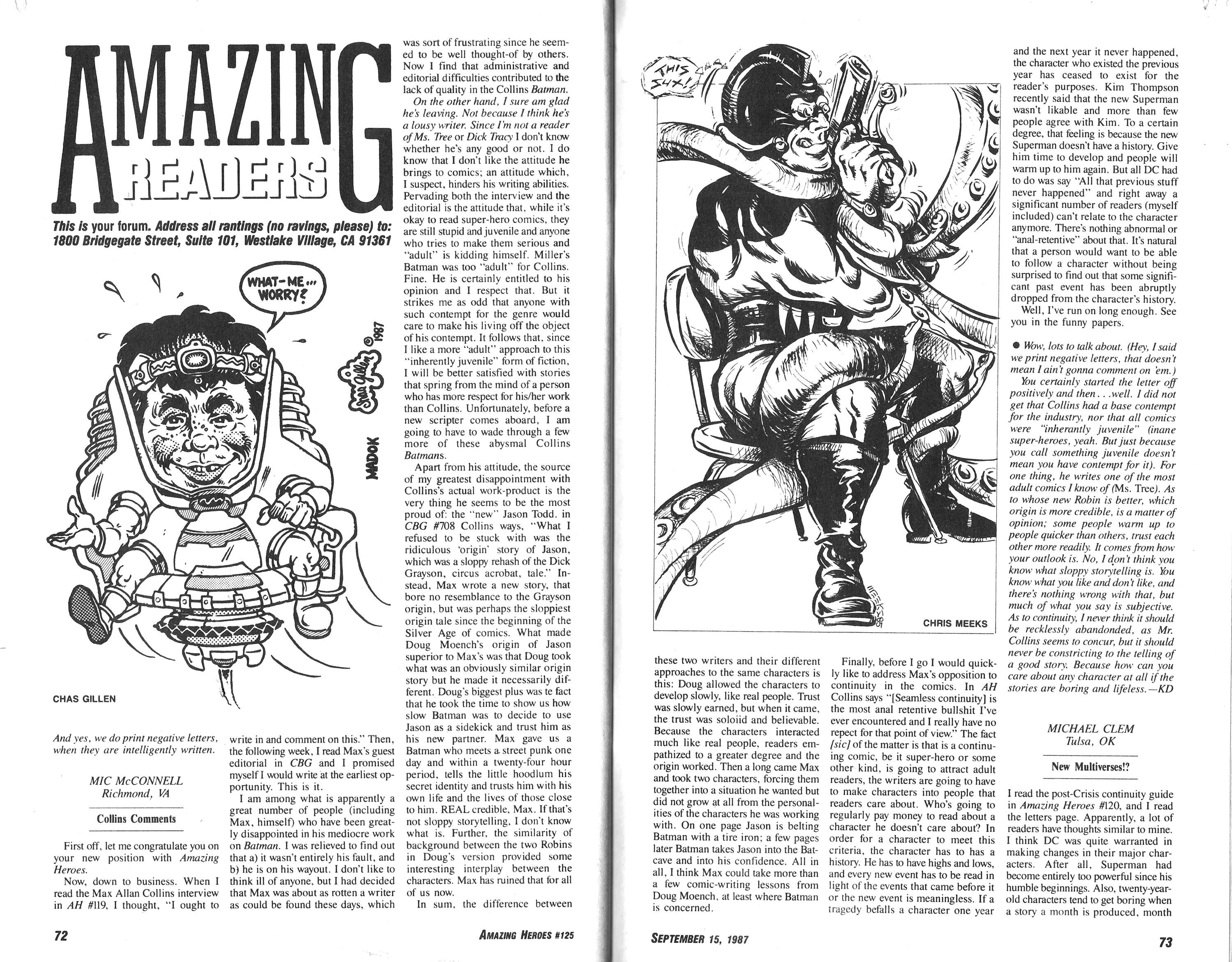 Read online Amazing Heroes comic -  Issue #125 - 37