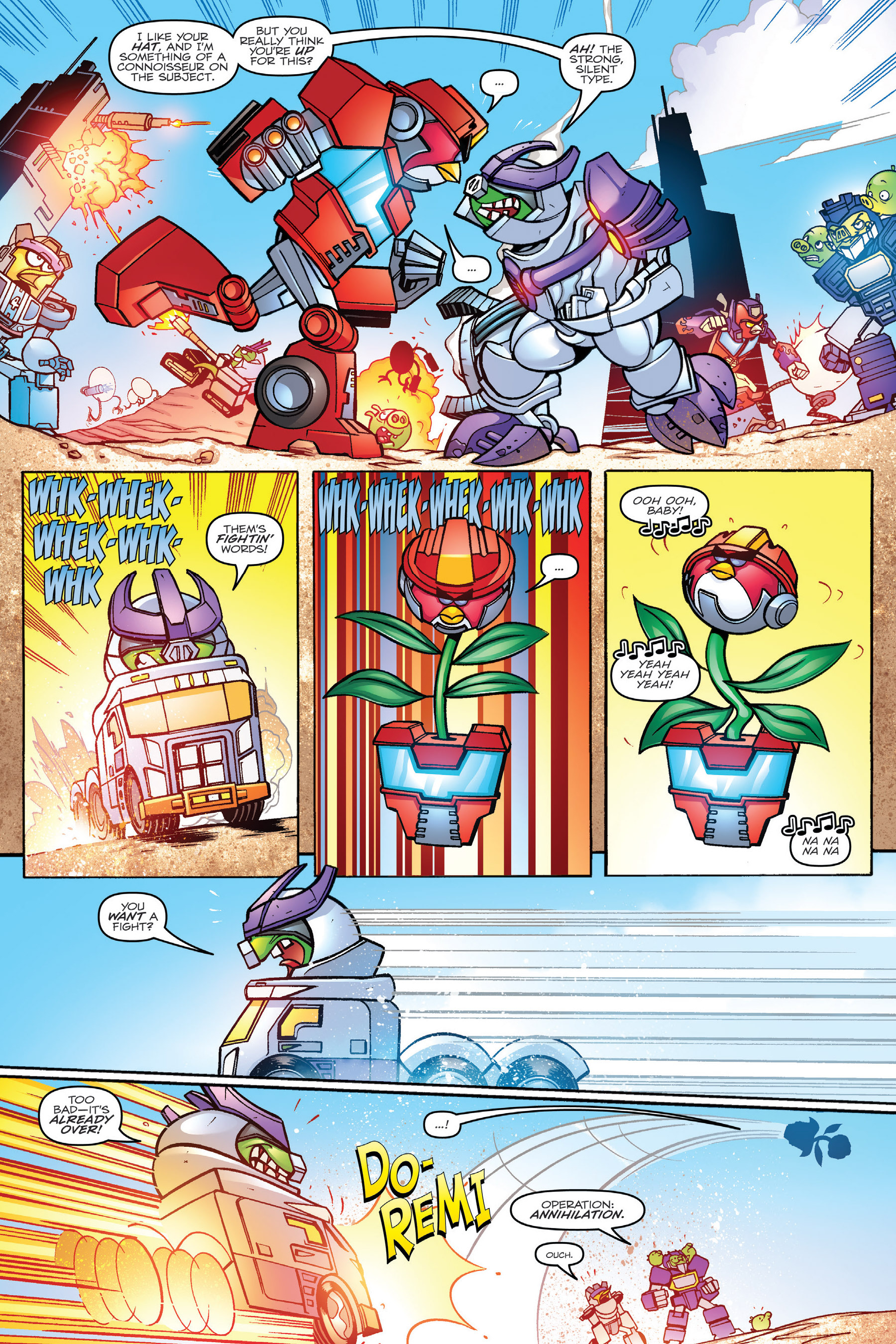 Read online Angry Birds Transformers: Age of Eggstinction comic -  Issue # Full - 58