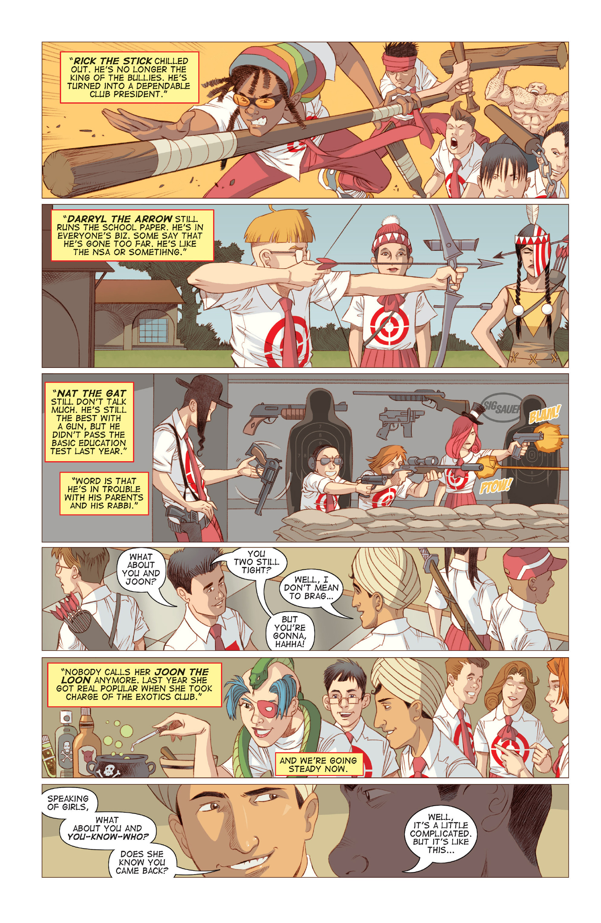 Read online Five Weapons comic -  Issue #6 - 8