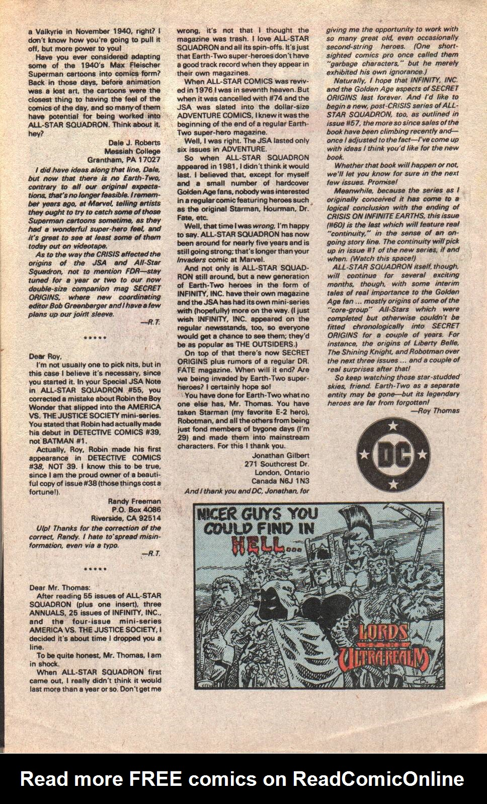 Read online All-Star Squadron comic -  Issue #60 - 34