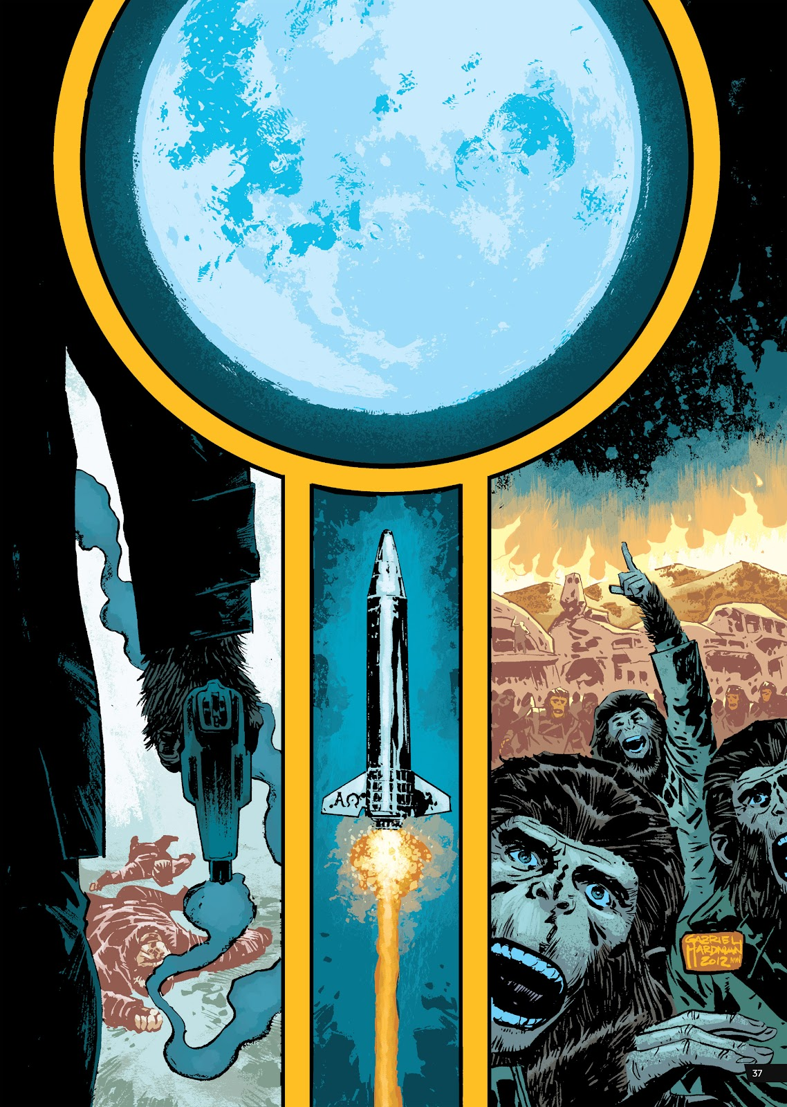 Read online Planet of the Apes Artist Tribute comic -  Issue # TPB - 37