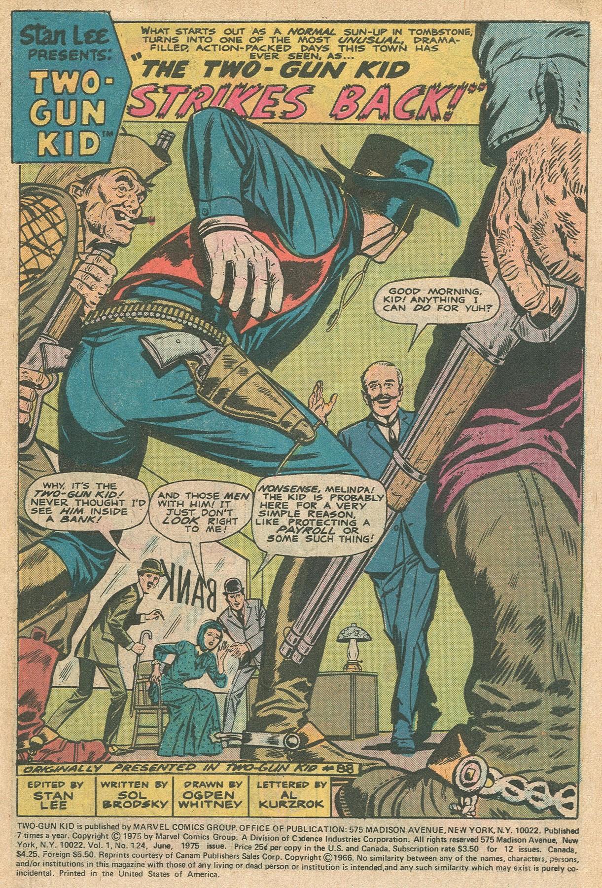 Read online Two-Gun Kid comic -  Issue #124 - 3