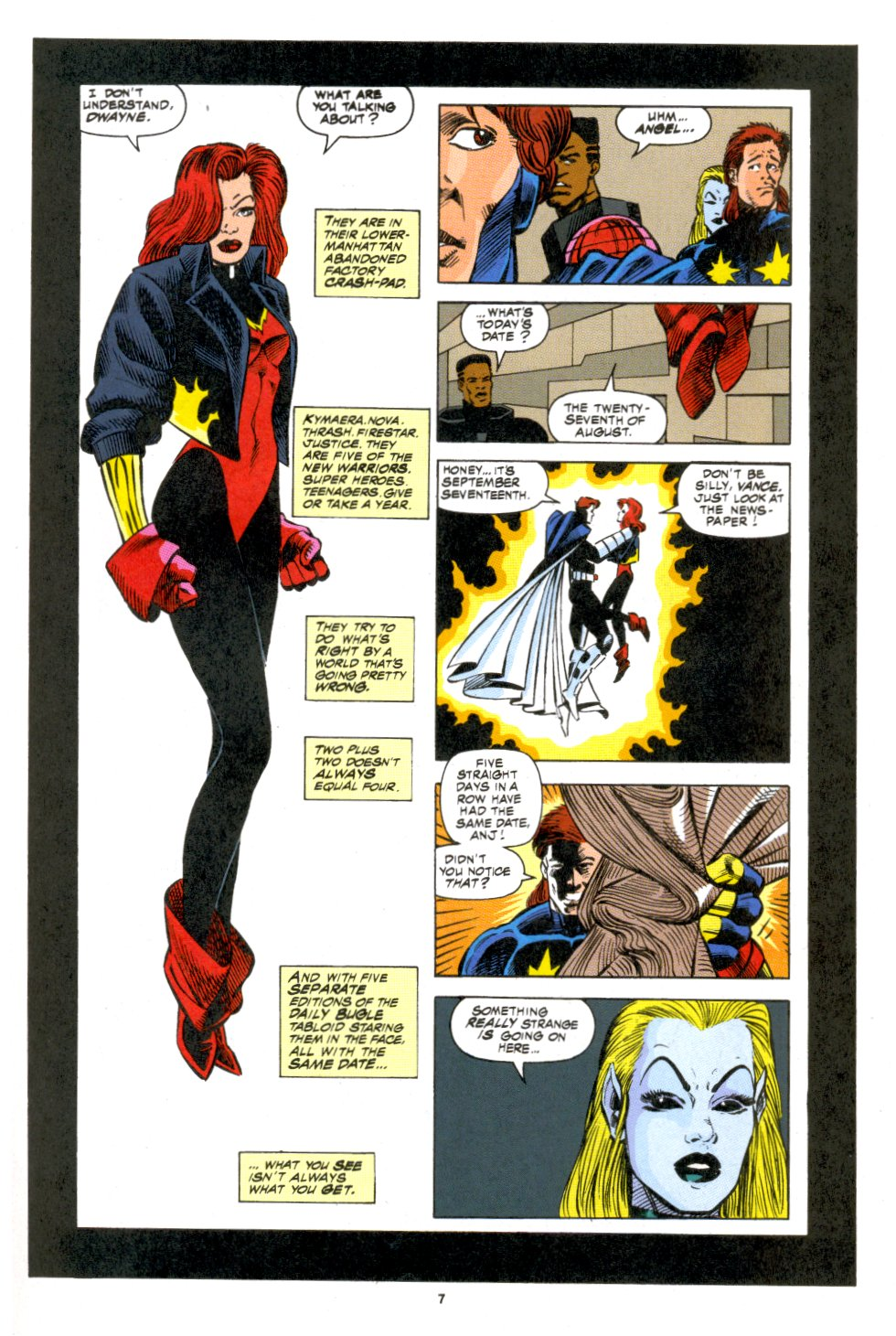 The New Warriors Issue #53 #57 - English 7