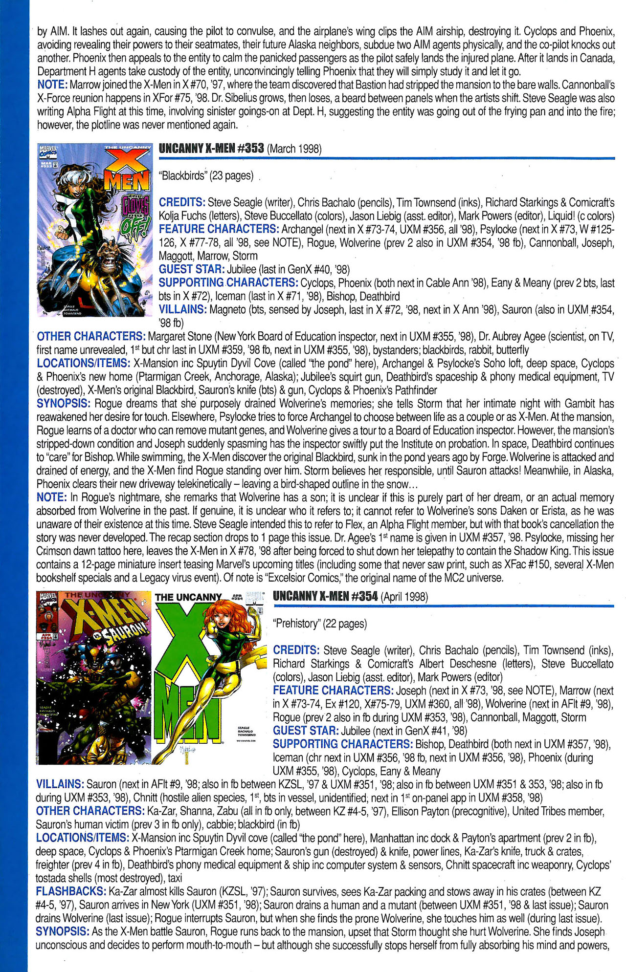 Read online Official Index to the Marvel Universe comic -  Issue #9 - 54