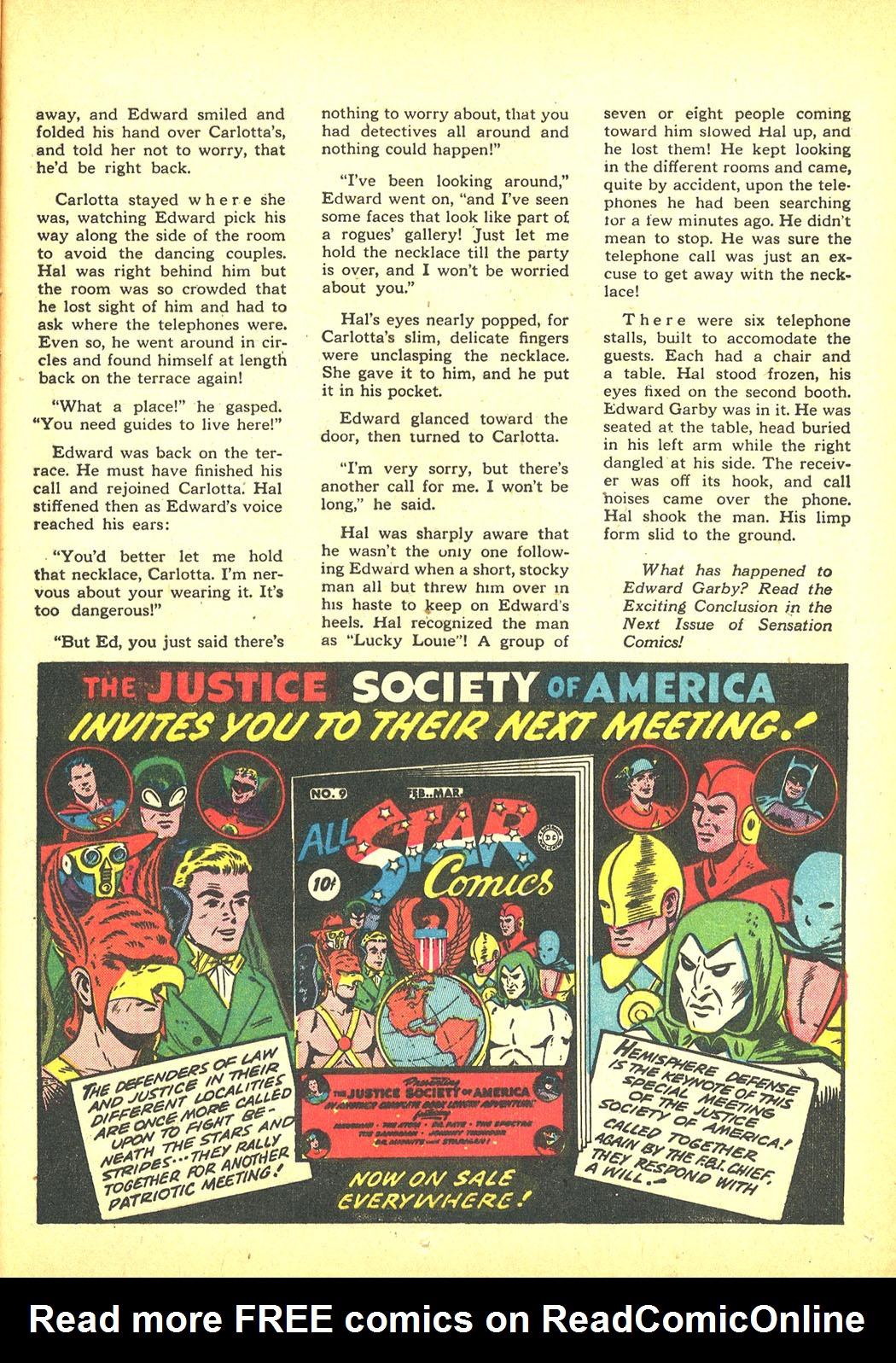 Read online Sensation (Mystery) Comics comic -  Issue #4 - 47