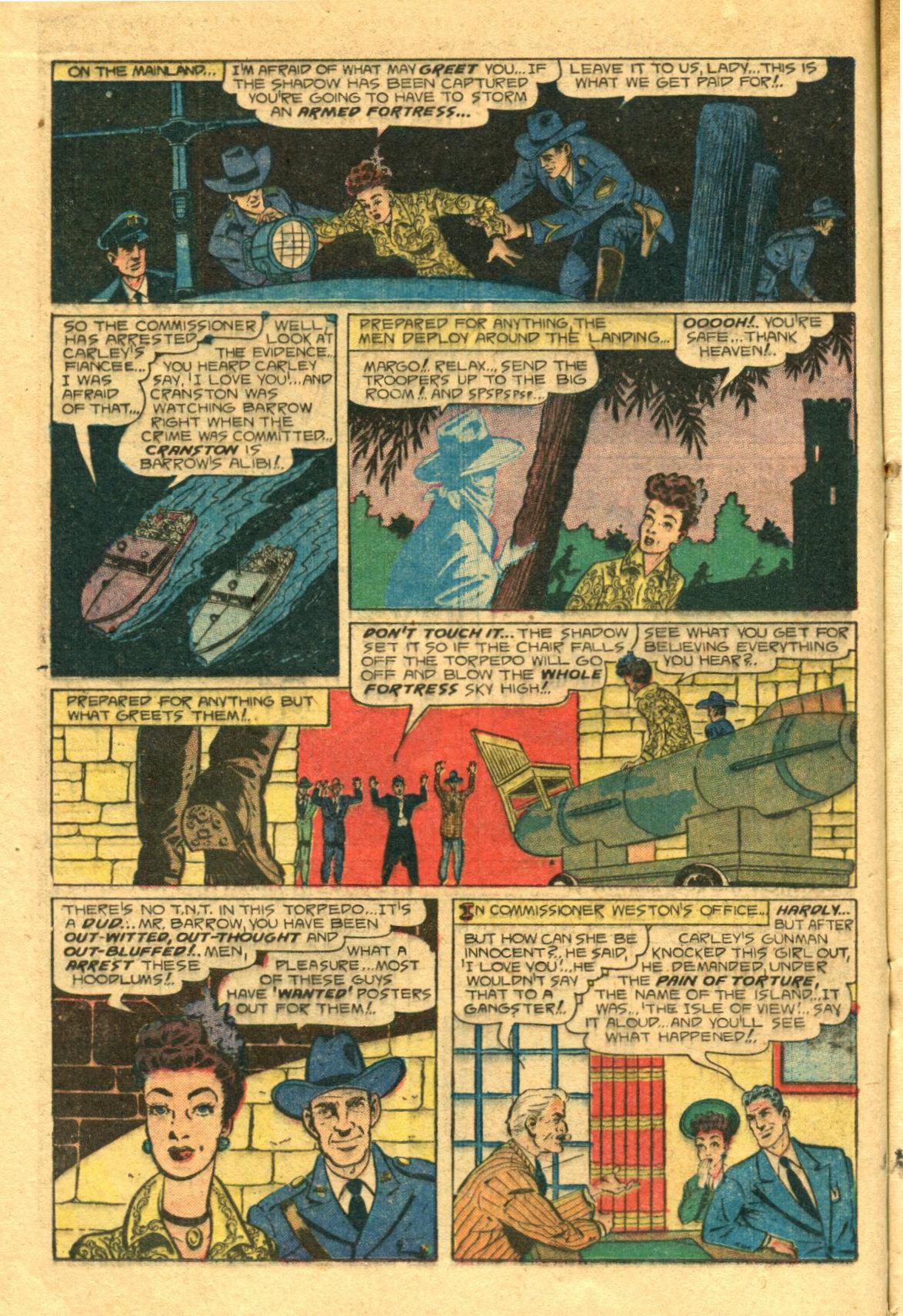 Read online Shadow Comics comic -  Issue #98 - 16