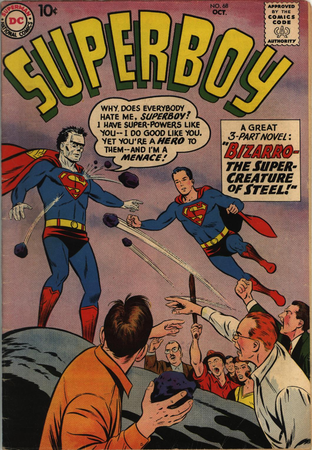 Superboy (1949) issue 68 - Page 1