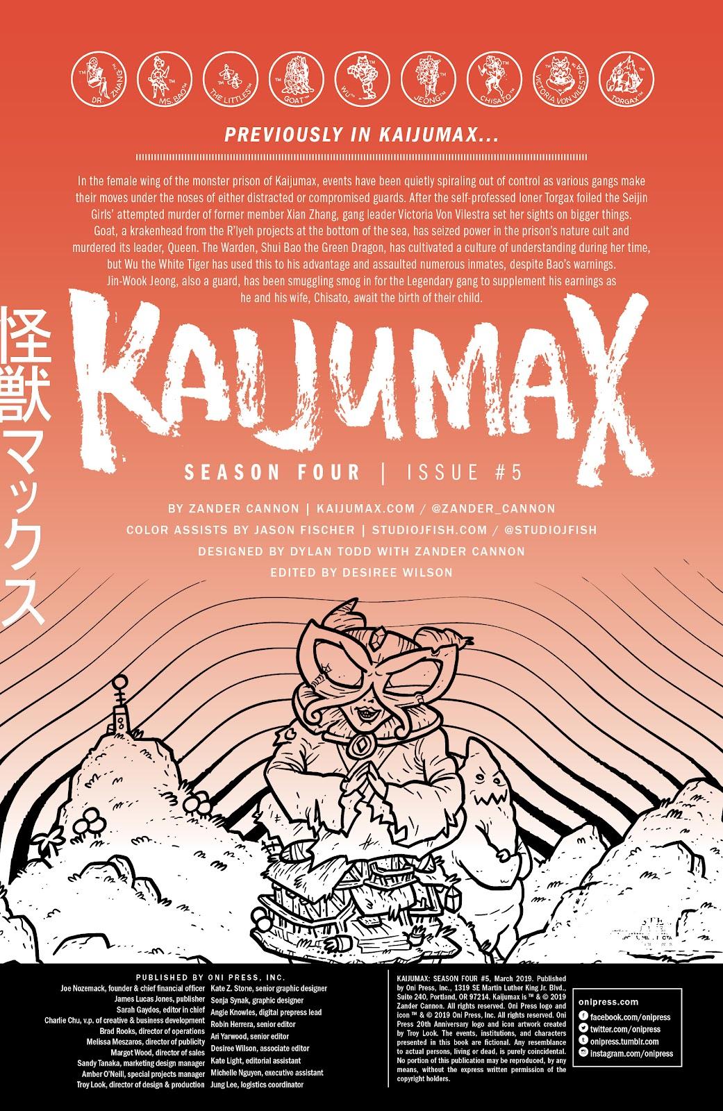 Read online Kaijumax: Season Four comic -  Issue #5 - 2