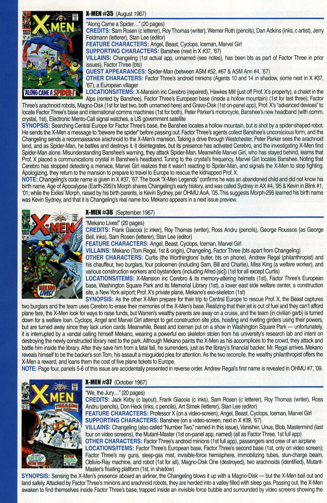 Read online Official Index to the Marvel Universe comic -  Issue #1 - 58