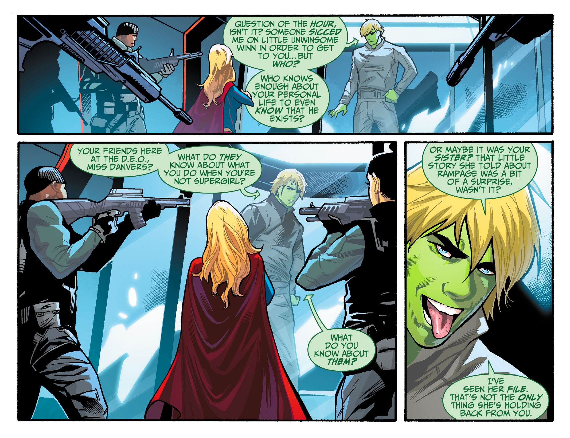 Read online Adventures of Supergirl comic -  Issue #6 - 7