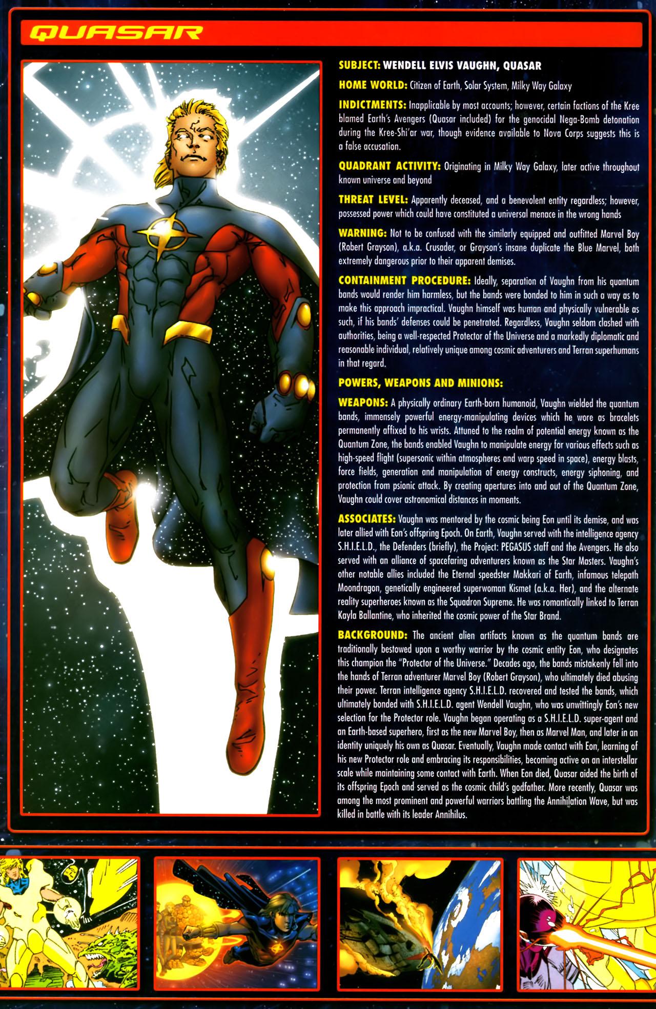 Read online Annihilation:  The  Nova Corps Files comic -  Issue #Annihilation:  The  Nova Corps Files Full - 29